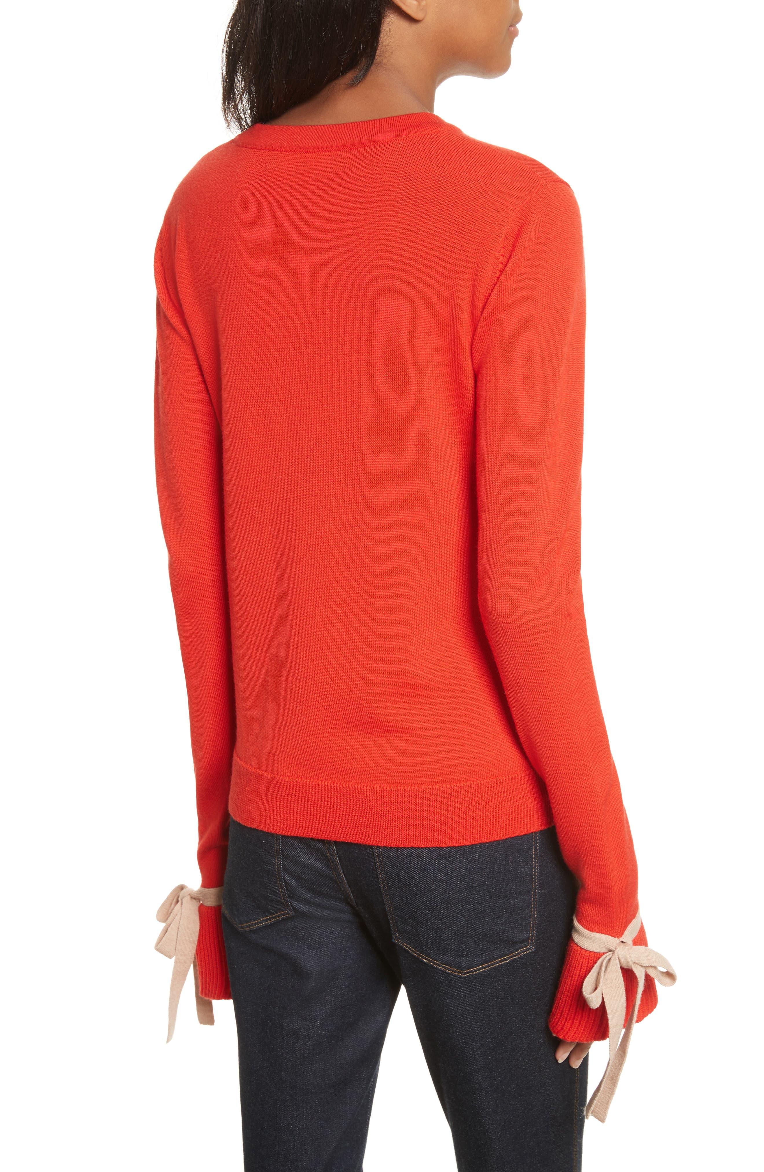 Saeta Tie Cuff Sweater,                             Alternate thumbnail 2, color,