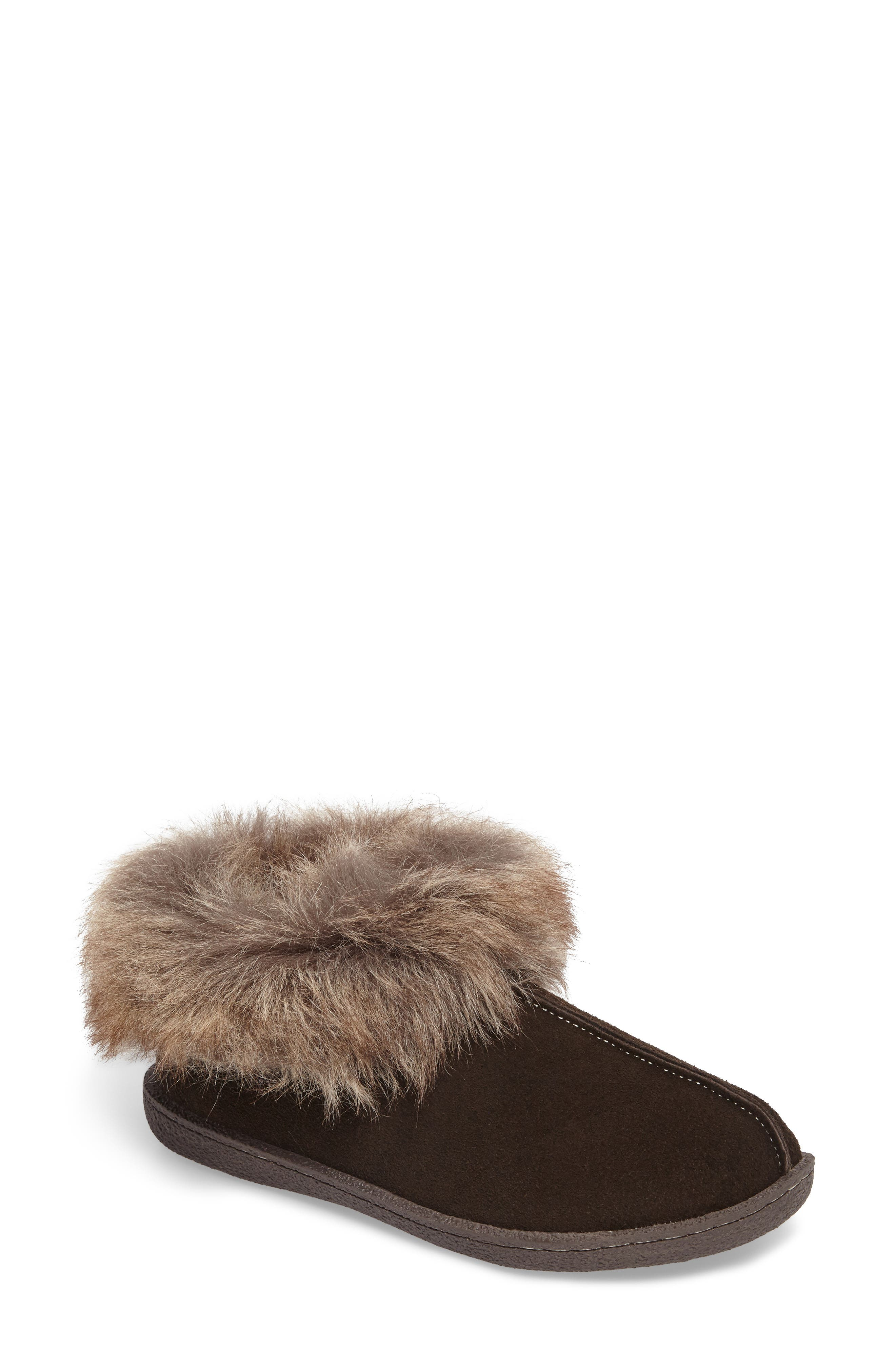 Autumn Ridge II Faux Fur Slipper Bootie,                             Main thumbnail 1, color,