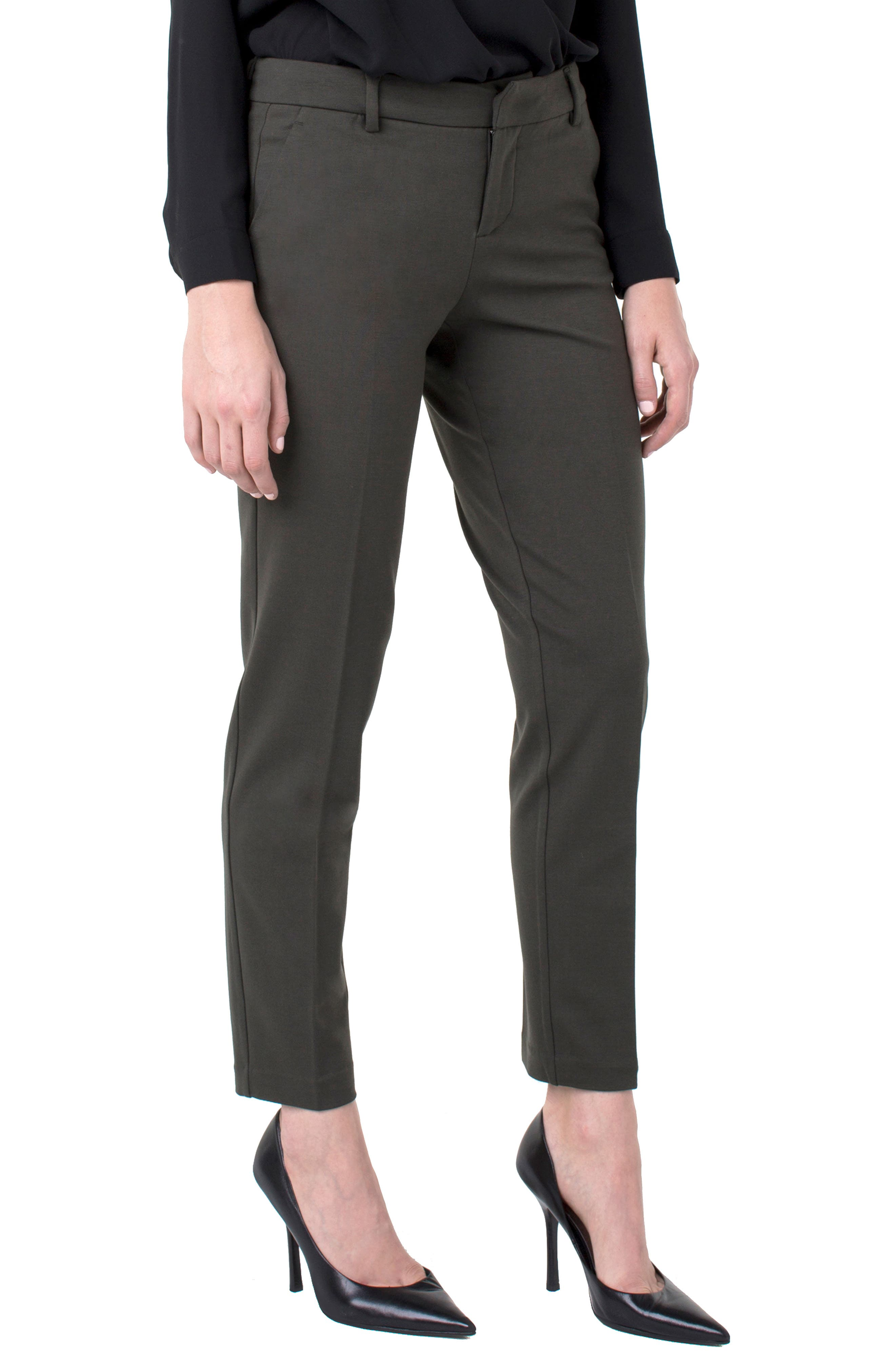 Kelsey Knit Trousers,                         Main,                         color, PEAT GREEN