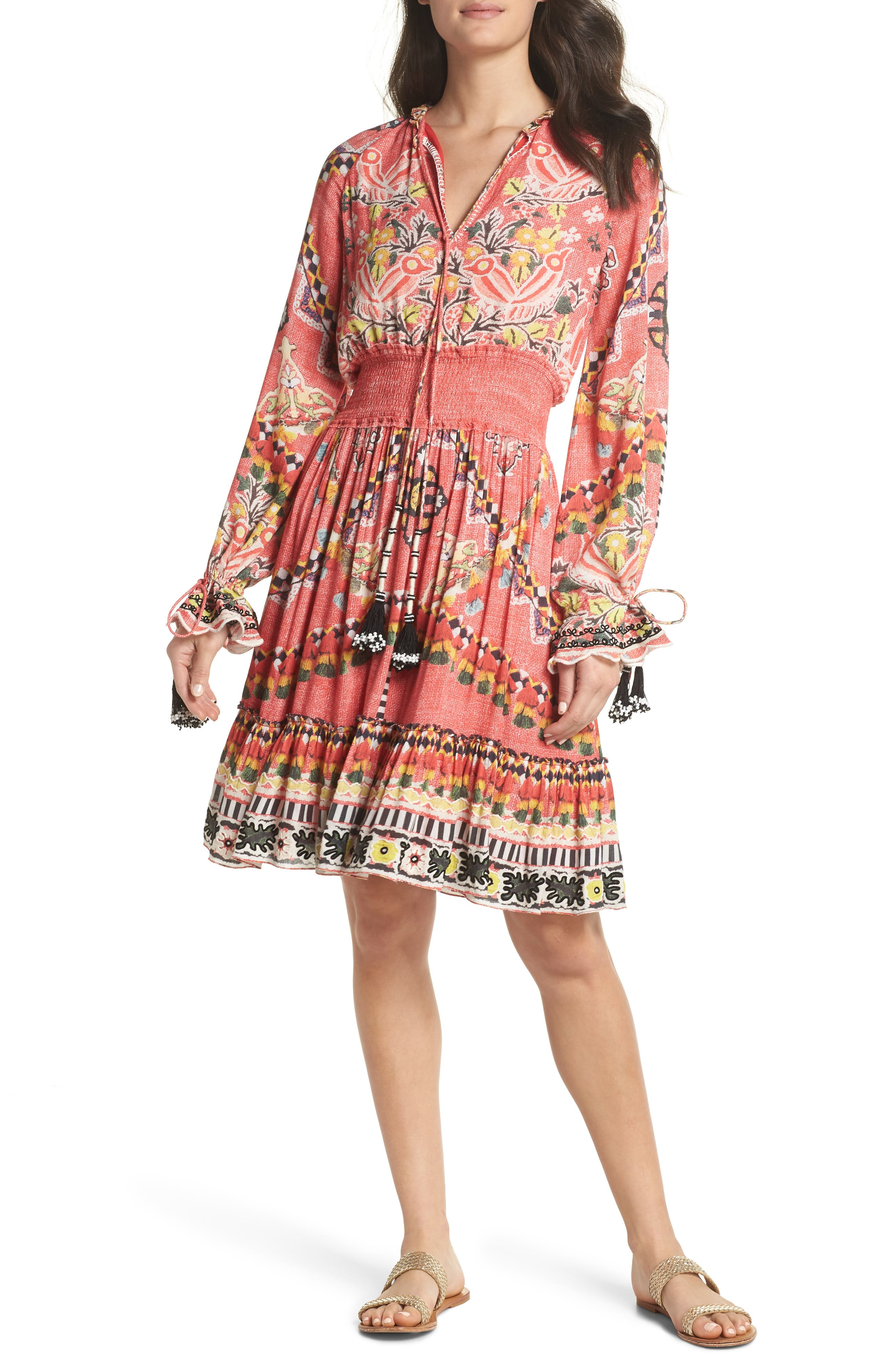 Hemant & Nandita Short Cover-Up Dress,                         Main,                         color, 605