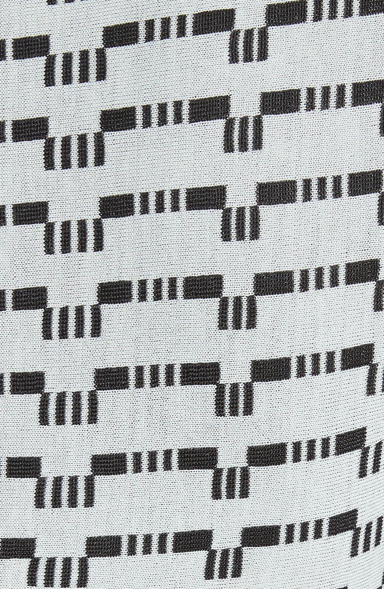 Grid Knit Fit & Flare Dress,                             Alternate thumbnail 5, color,                             430