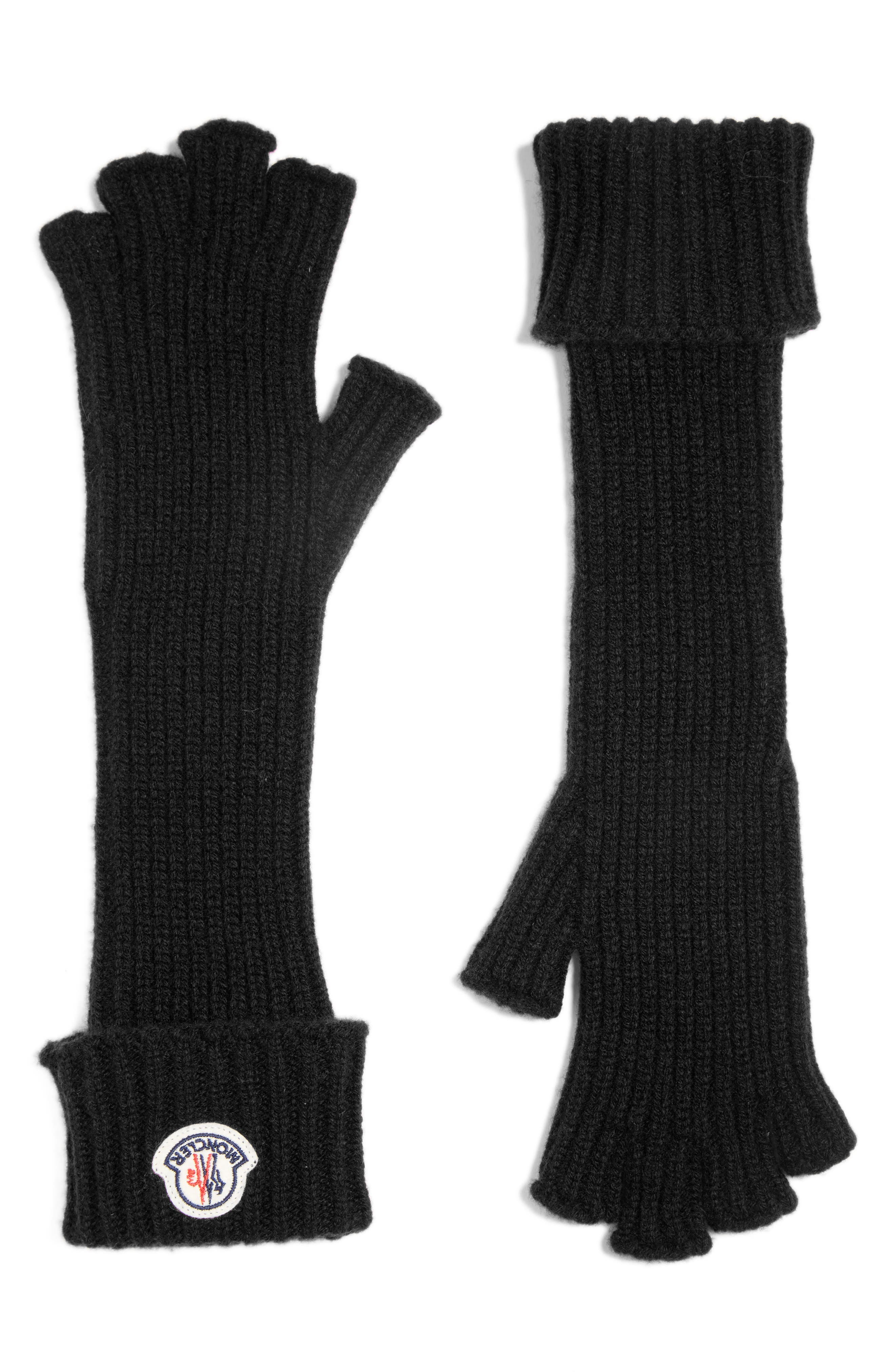 Guanti Wool & Cashmere Long Fingerless Gloves,                             Alternate thumbnail 2, color,                             001