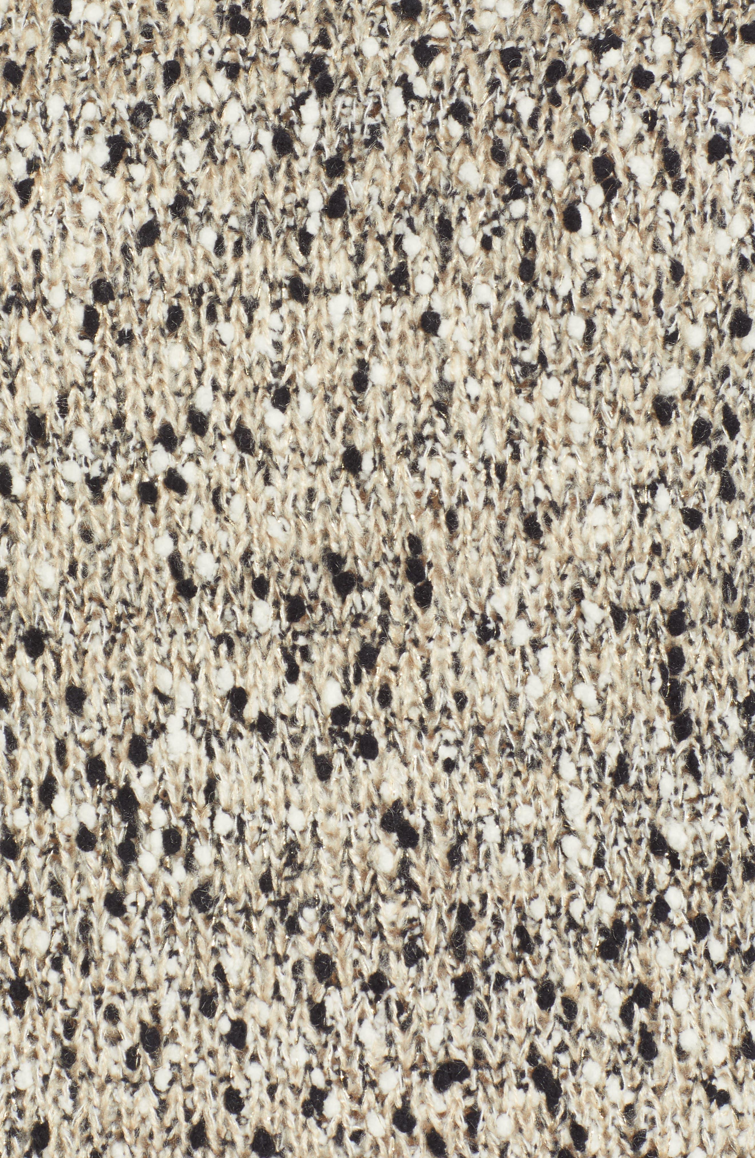 Metallic Slub Turtleneck Sweater,                             Alternate thumbnail 5, color,                             OATMEAL MULTI