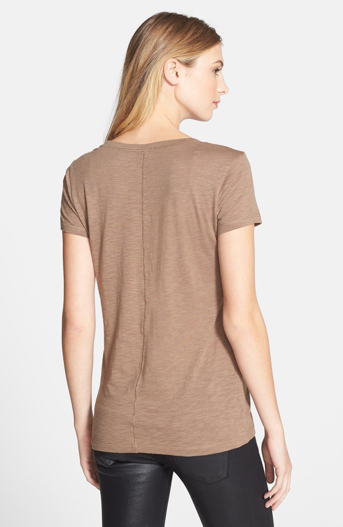 Short Sleeve Cotton & Modal Tee,                             Alternate thumbnail 50, color,