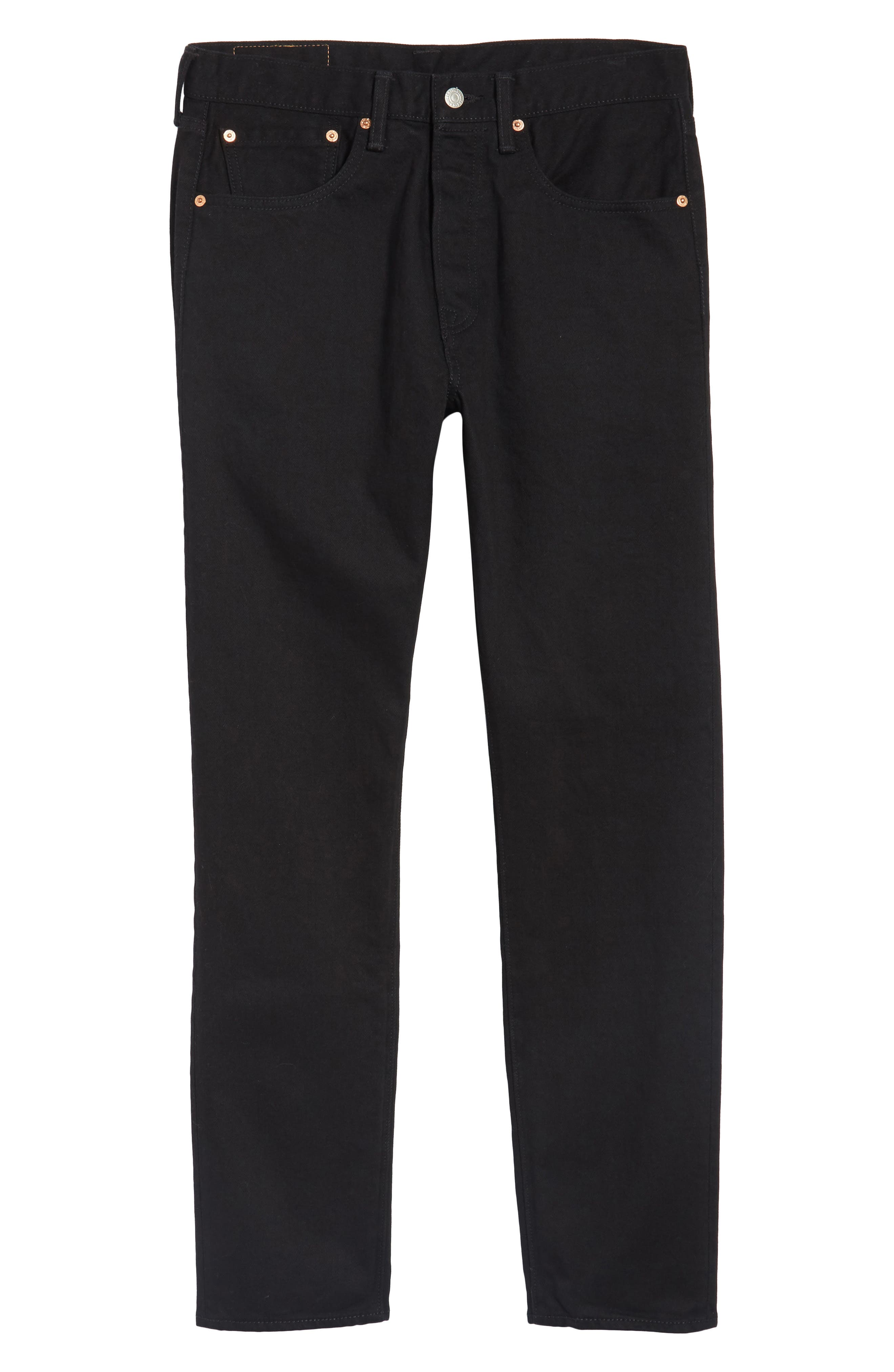 501<sup>™</sup> Slouchy Tapered Slim Fit Jeans,                             Alternate thumbnail 6, color,                             001
