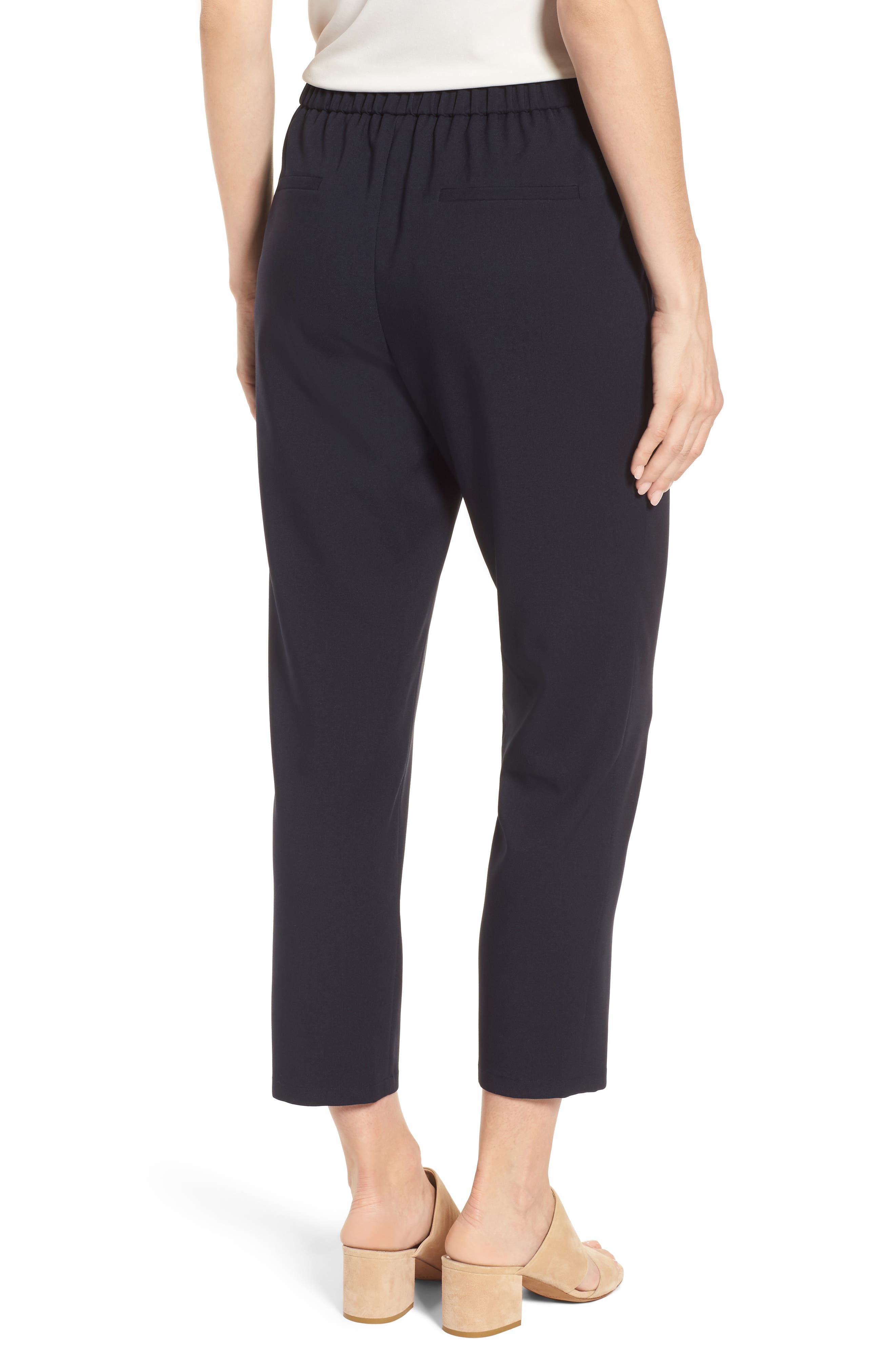Twill Ankle Pants,                             Alternate thumbnail 4, color,