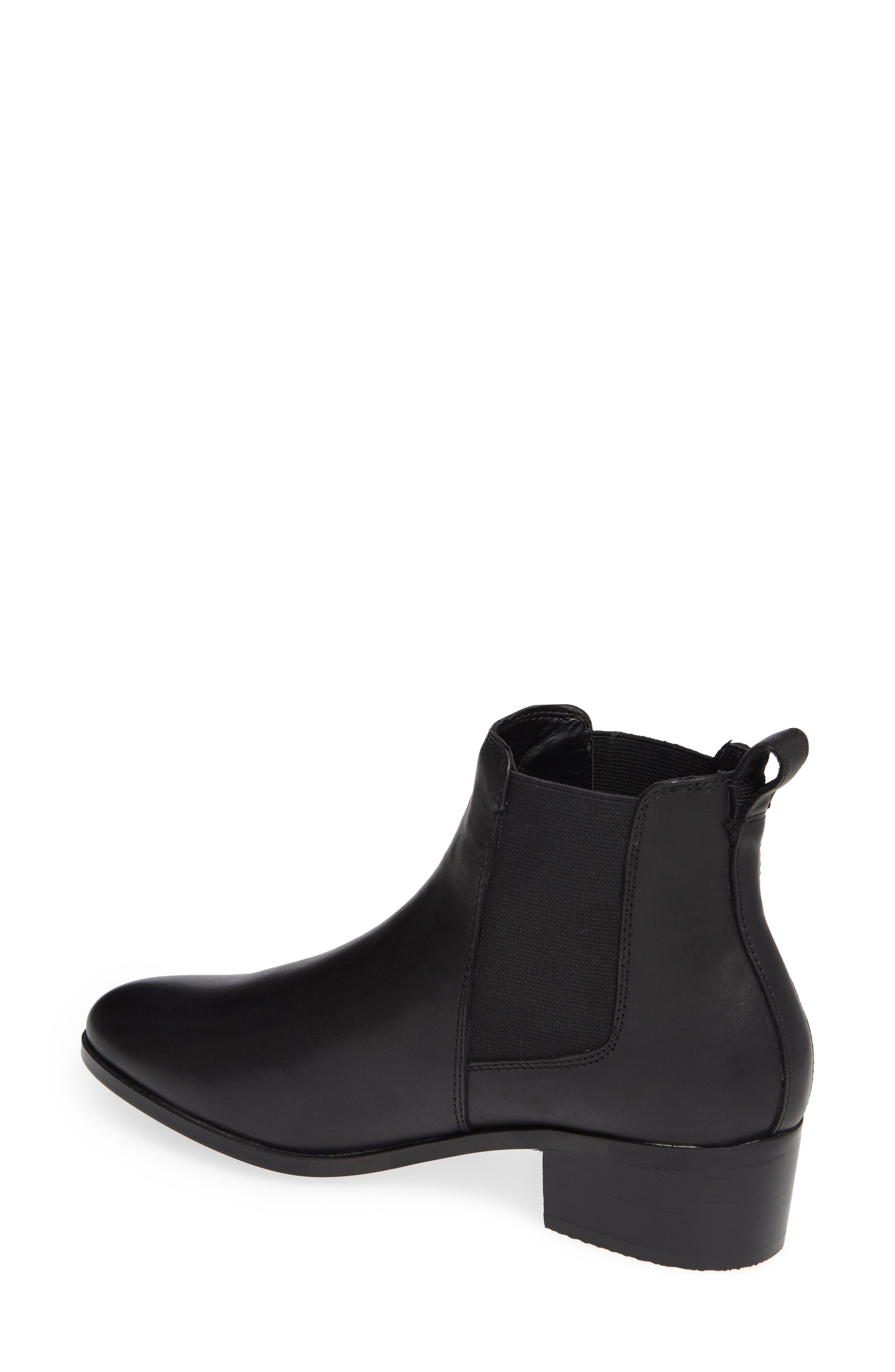 Dover Chelsea Bootie,                             Alternate thumbnail 2, color,                             BLACK LEATHER