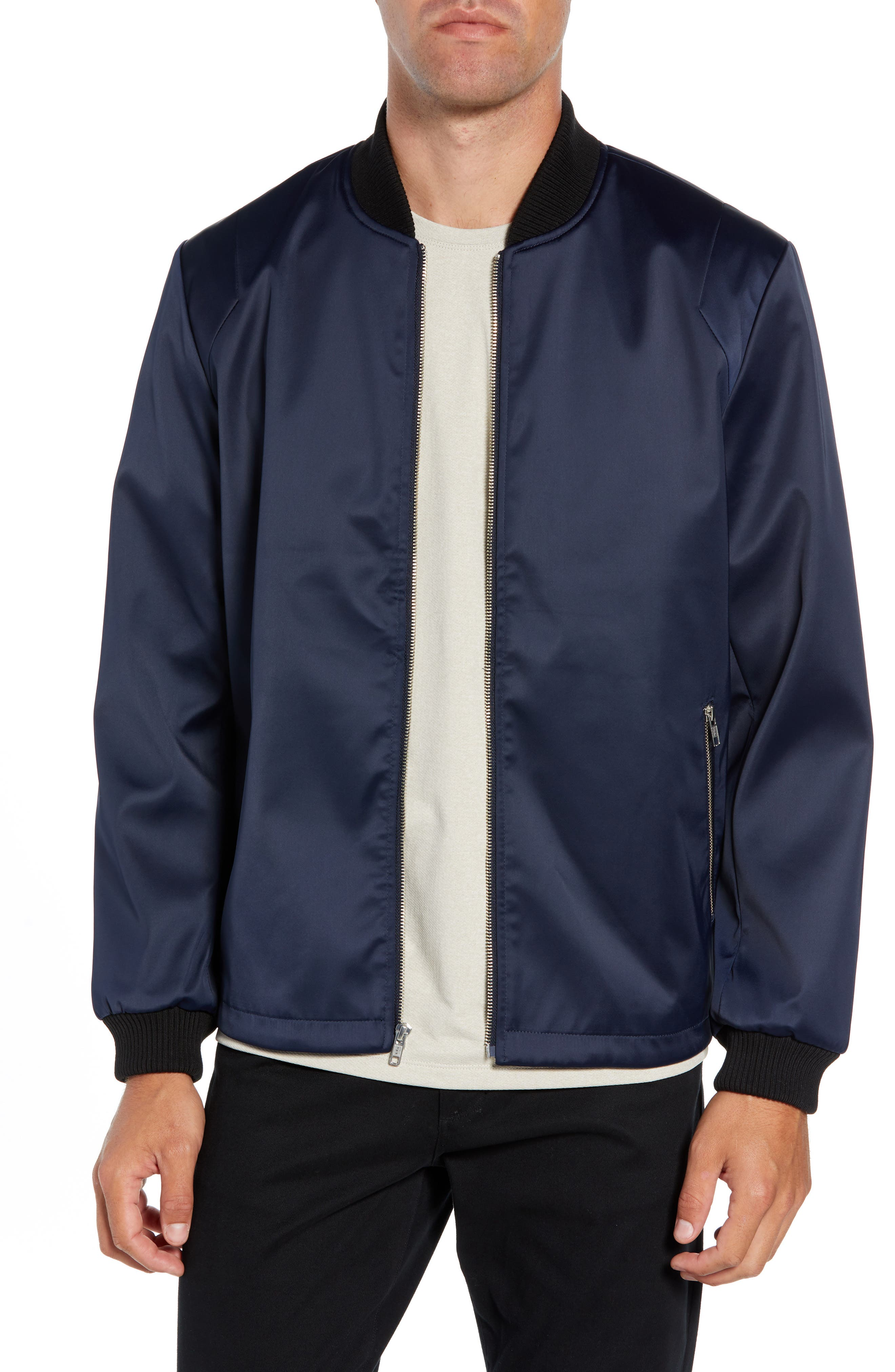 Sateen Bomber Jacket, Main, color, 410