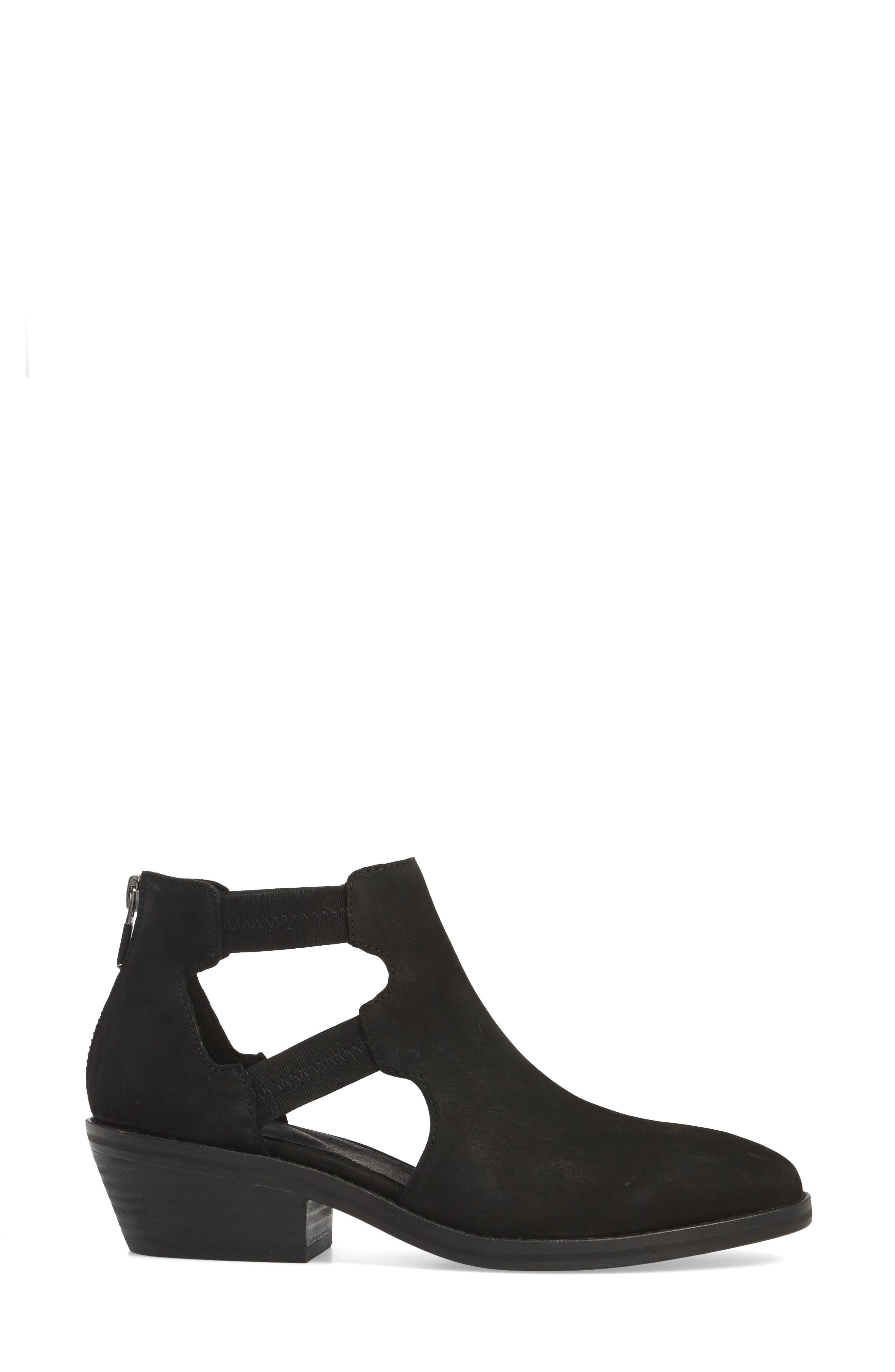 Vanda Cutout Bootie,                             Alternate thumbnail 3, color,                             001