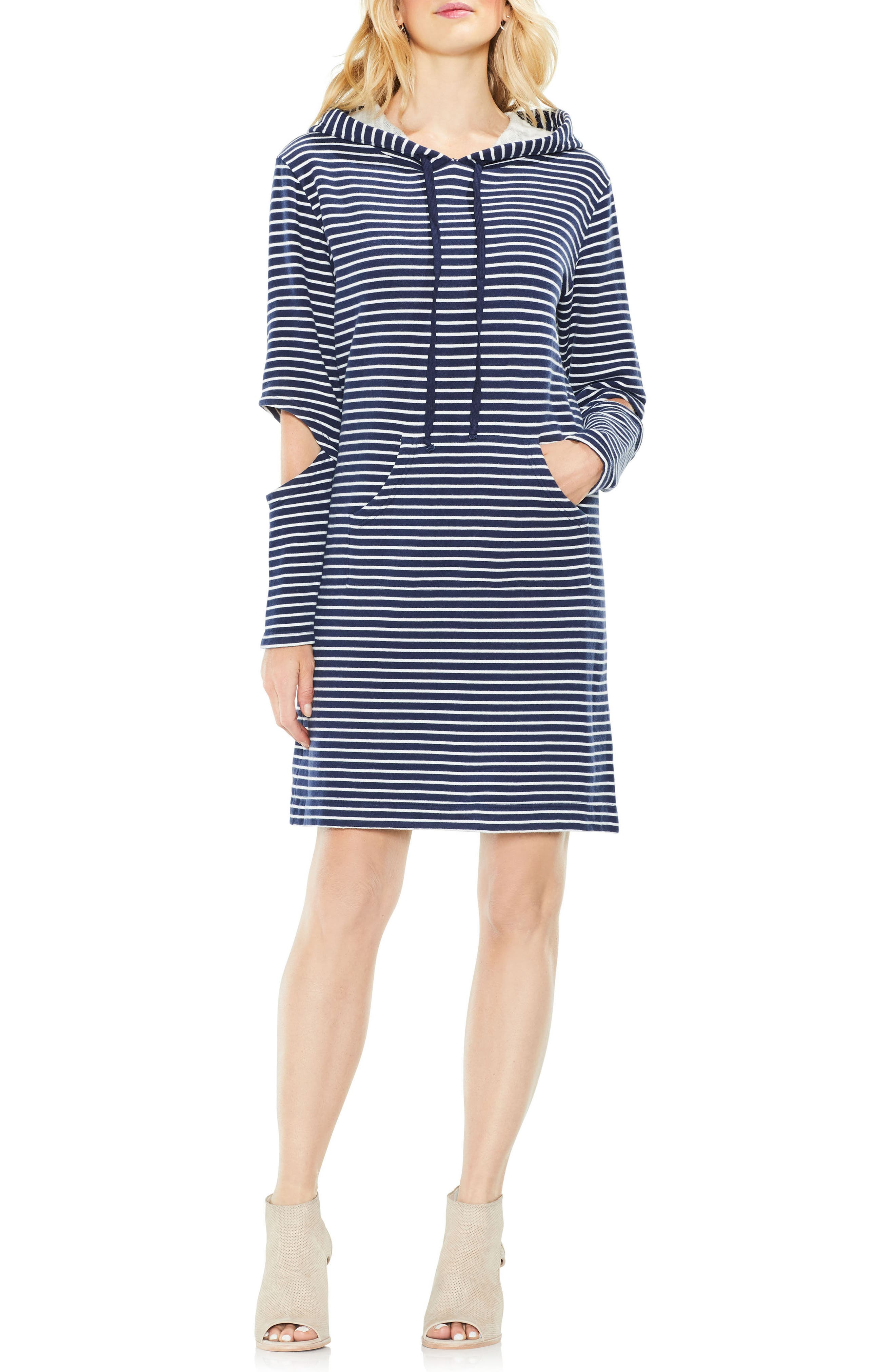 Daydream Stripe Hooded Dress,                             Alternate thumbnail 6, color,