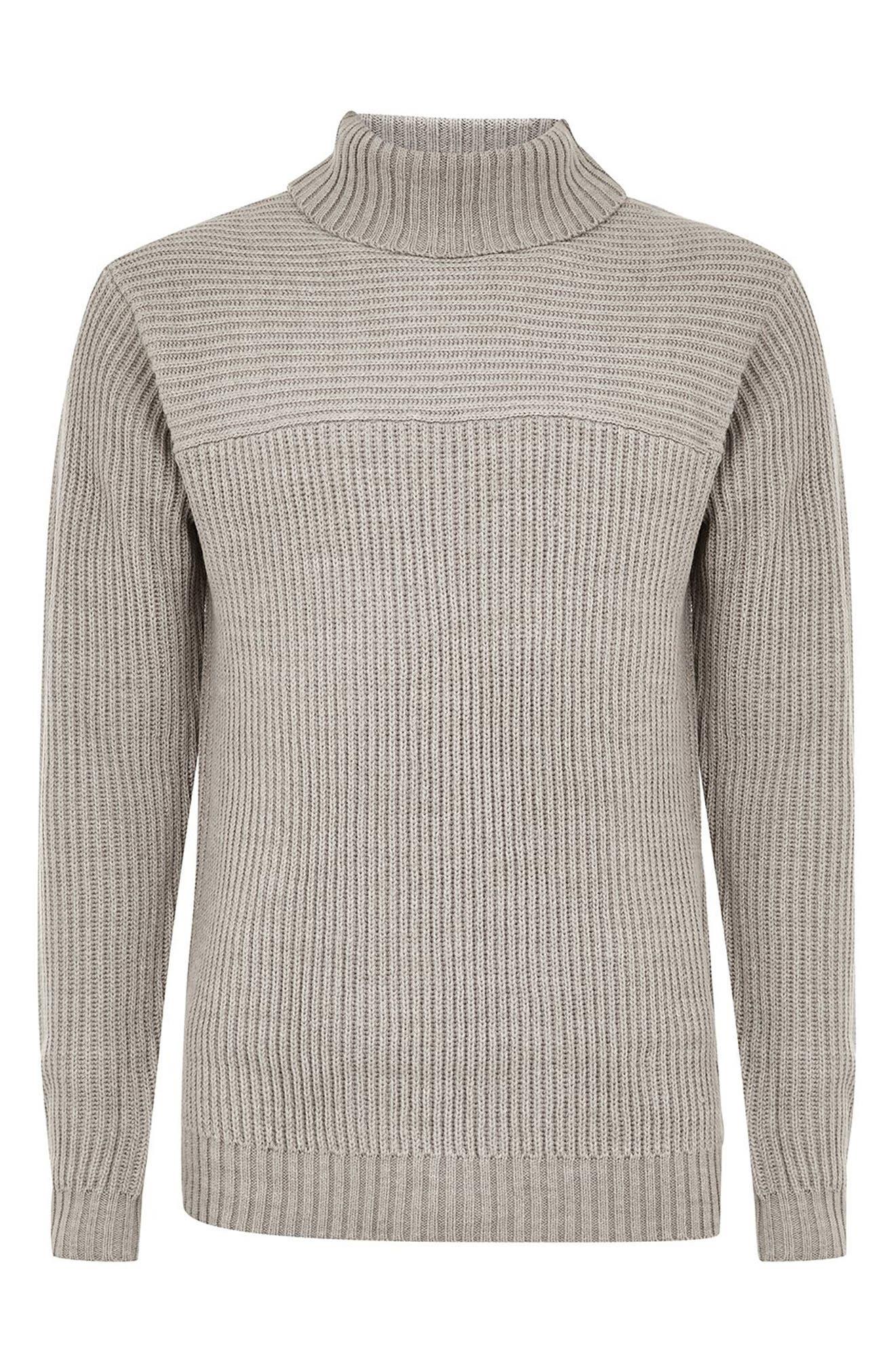 Flint Ribbed Turtleneck Sweater,                             Alternate thumbnail 4, color,                             020