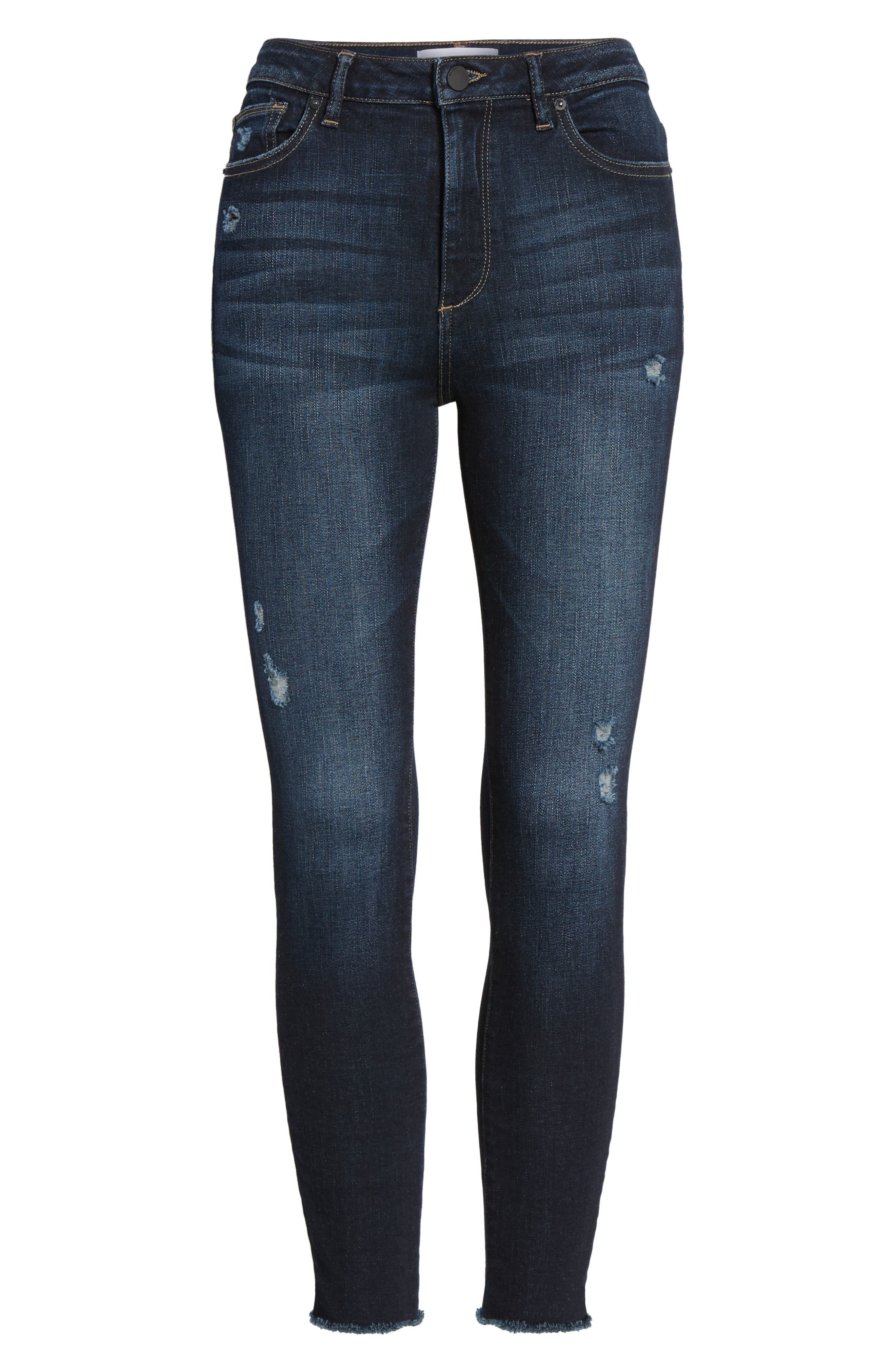 Chrissy High Waist Crop Skinny Jeans,                             Alternate thumbnail 6, color,                             405