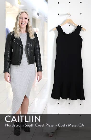 Off the Shoulder Flounce Hem Sweater Dress, sales video thumbnail