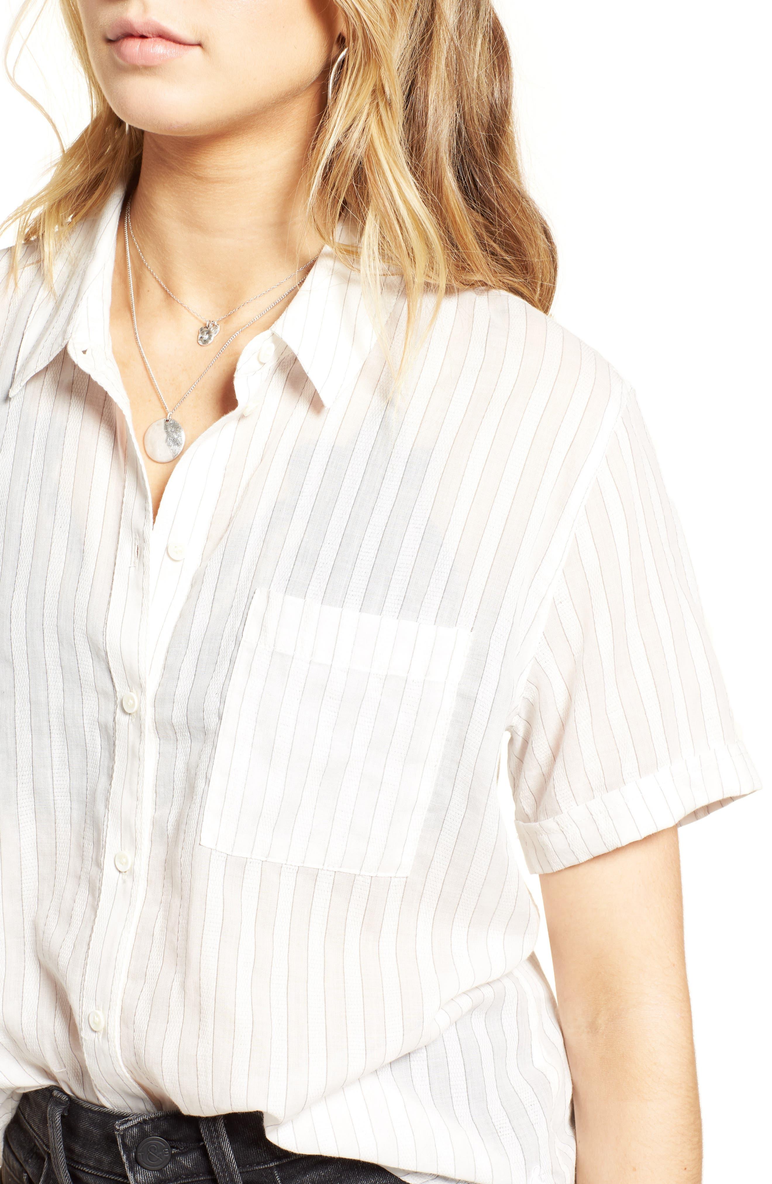 Stripe Shirt,                             Alternate thumbnail 4, color,                             100