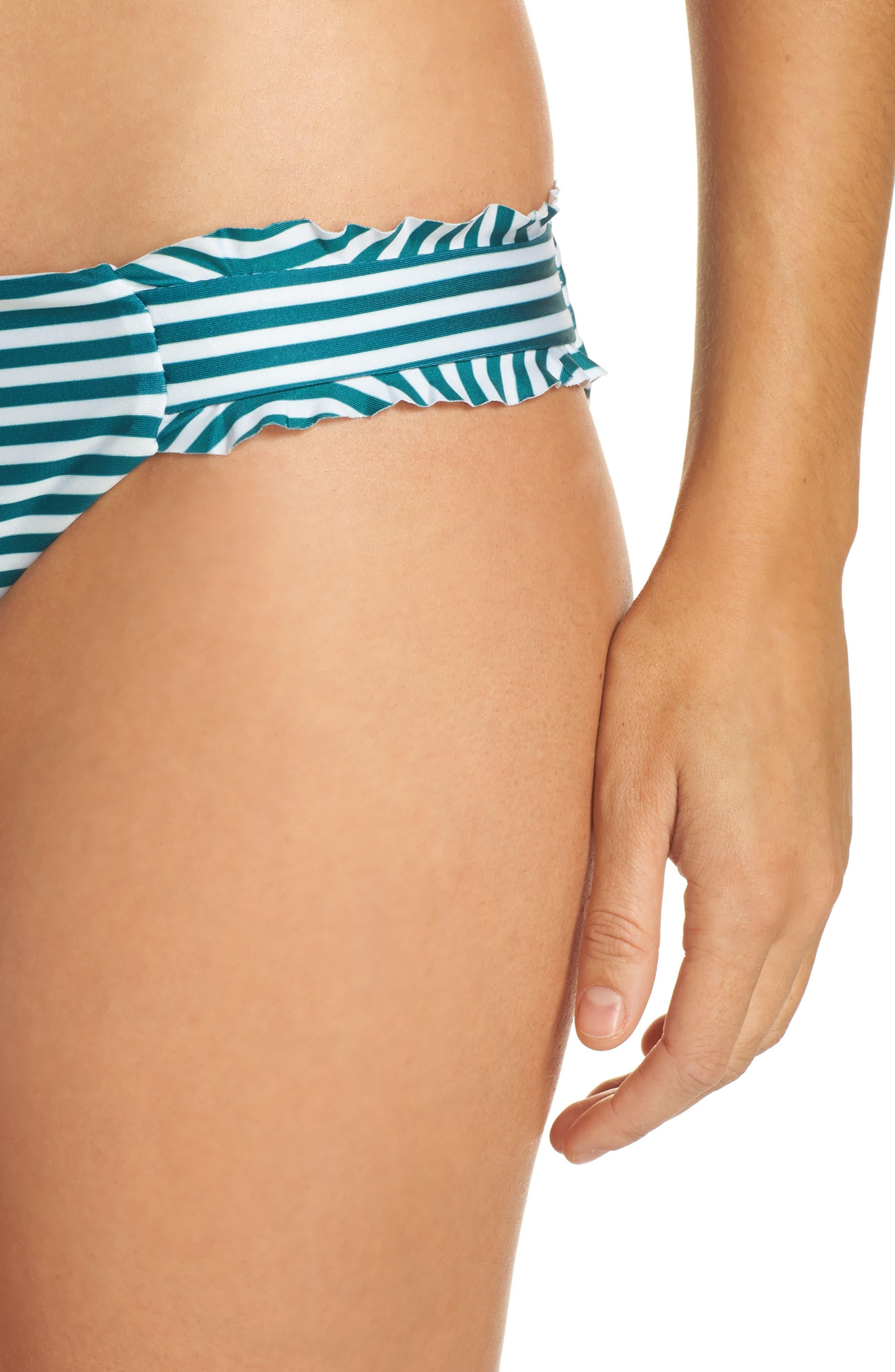 Avalon Ruffle Bikini Bottoms,                             Alternate thumbnail 4, color,                             001