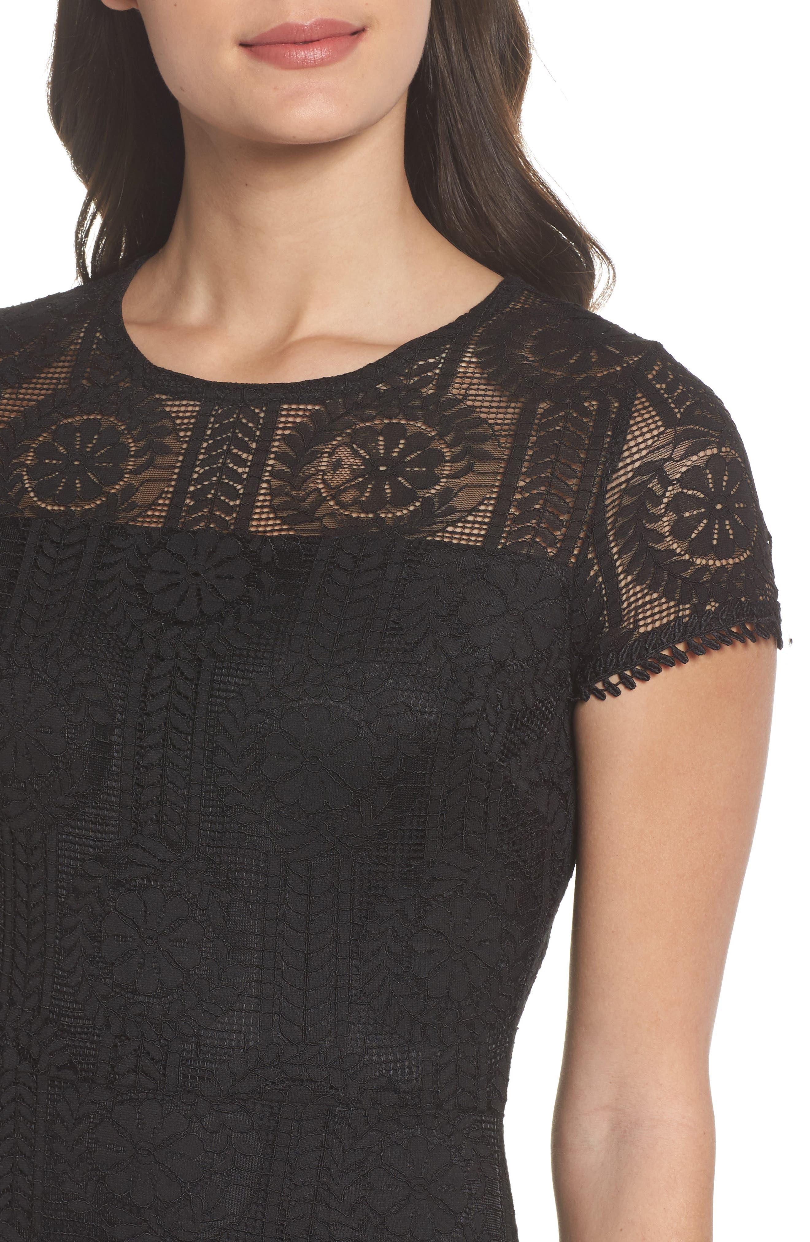 Lace Midi Dress,                             Alternate thumbnail 7, color,