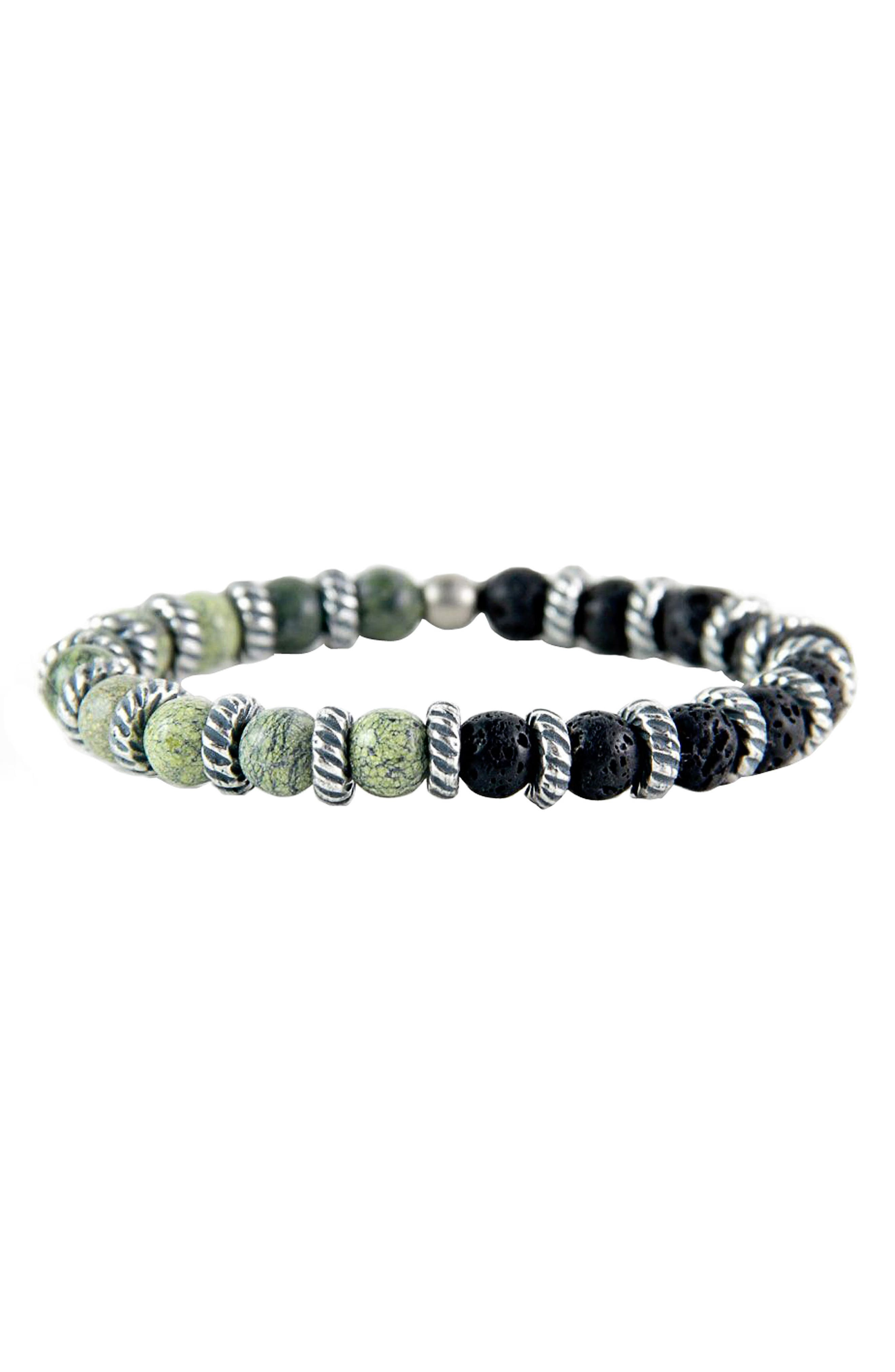 Serpentine Lava Stretch Bracelet,                         Main,                         color, 300