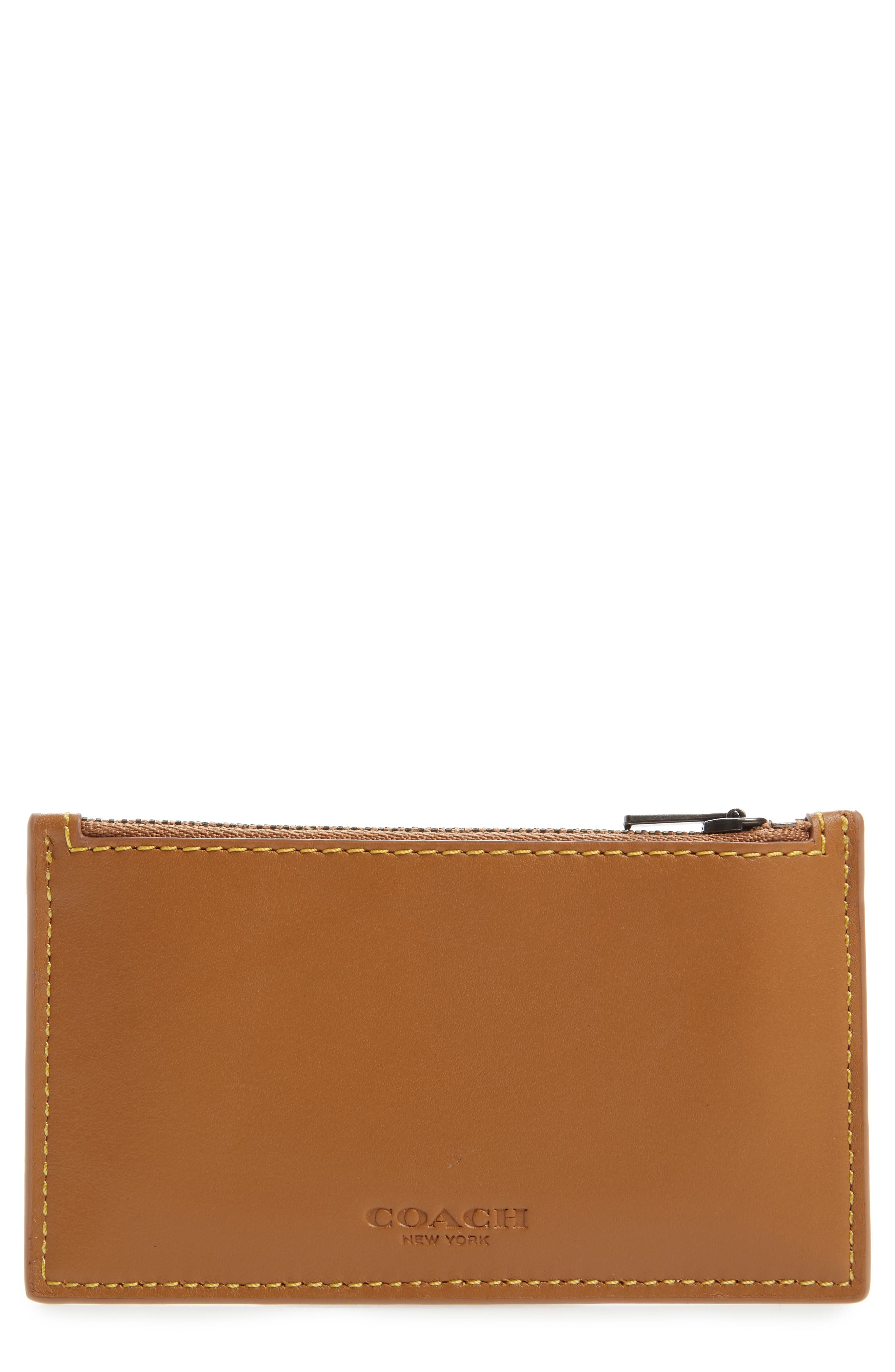 Zip Leather Card Case,                         Main,                         color, 250