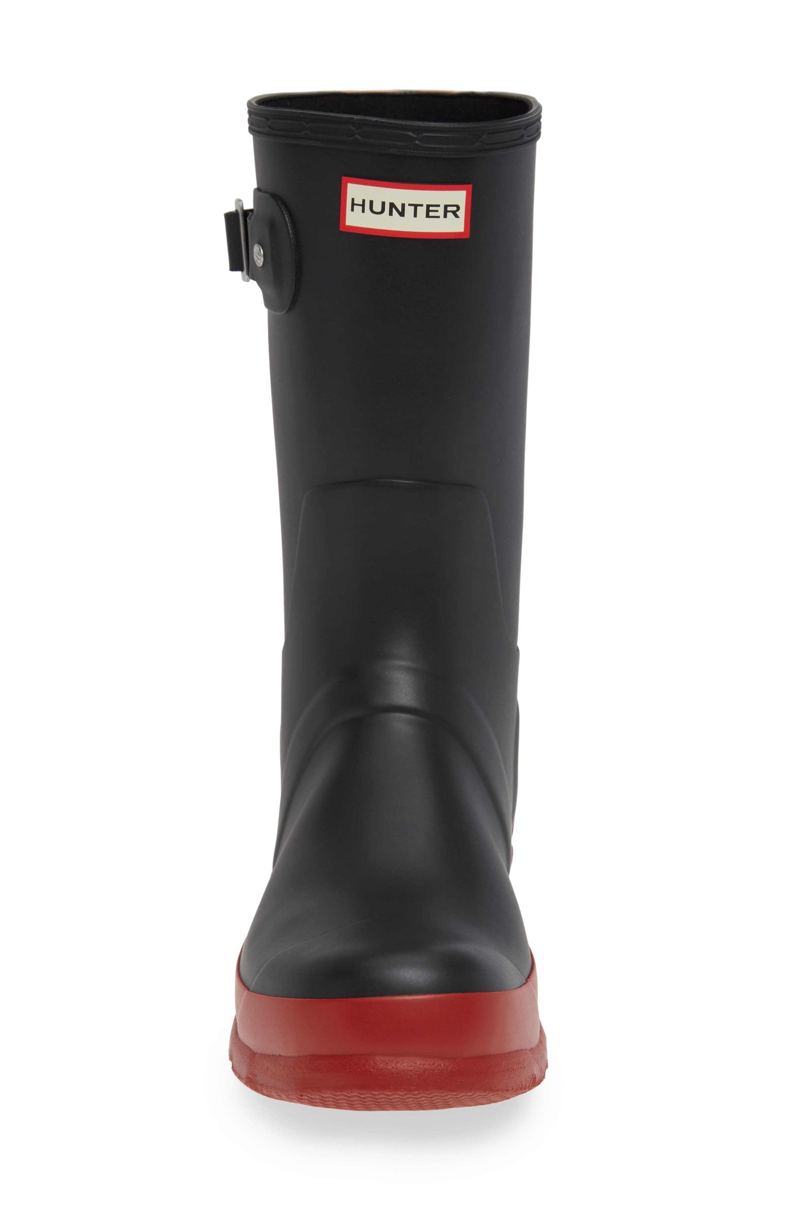 Waterproof Original Boot,                             Alternate thumbnail 4, color,                             BLACK/ RED COLOR BLOCK