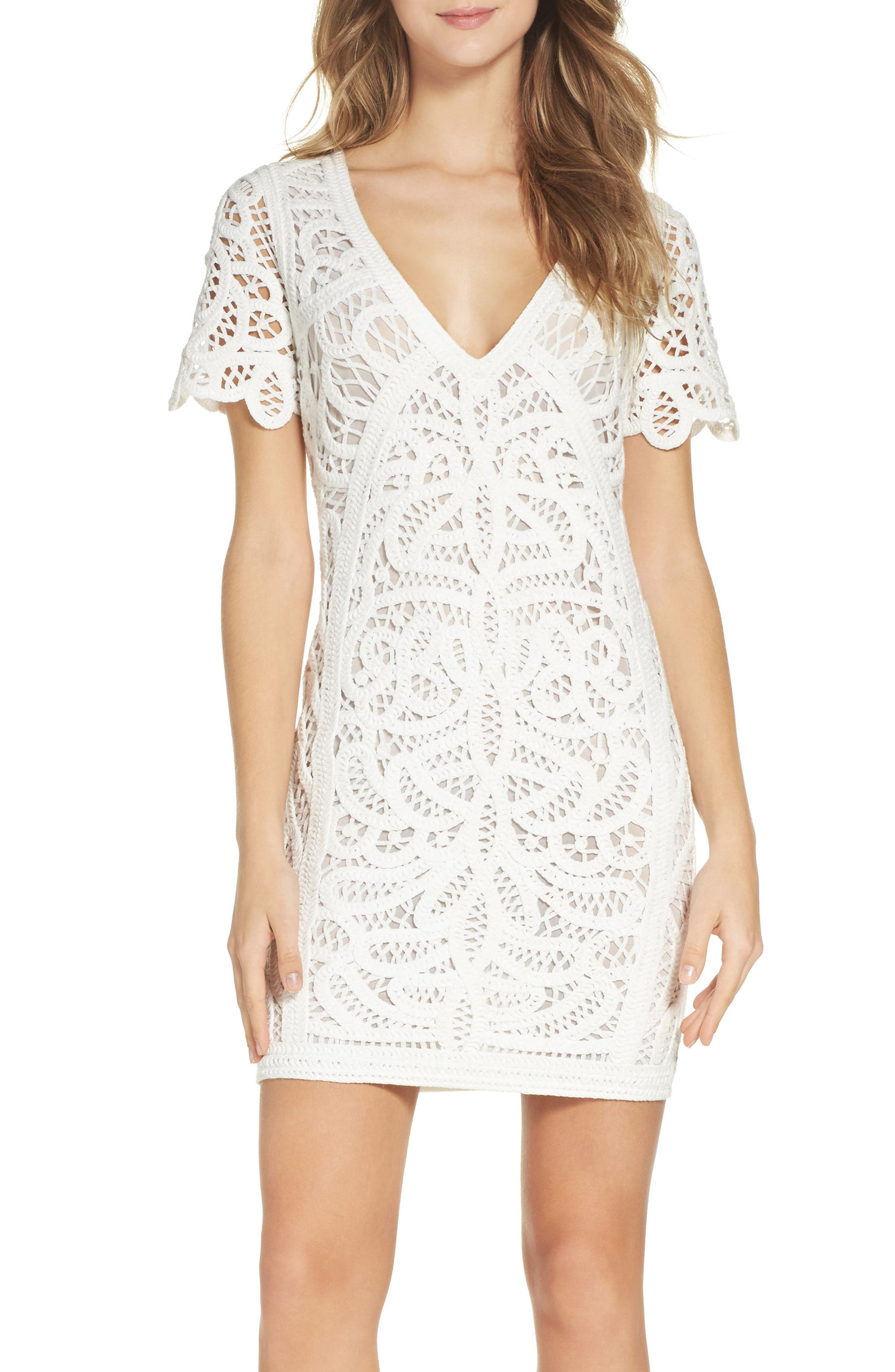 Mesi Lace Dress,                             Main thumbnail 1, color,                             101