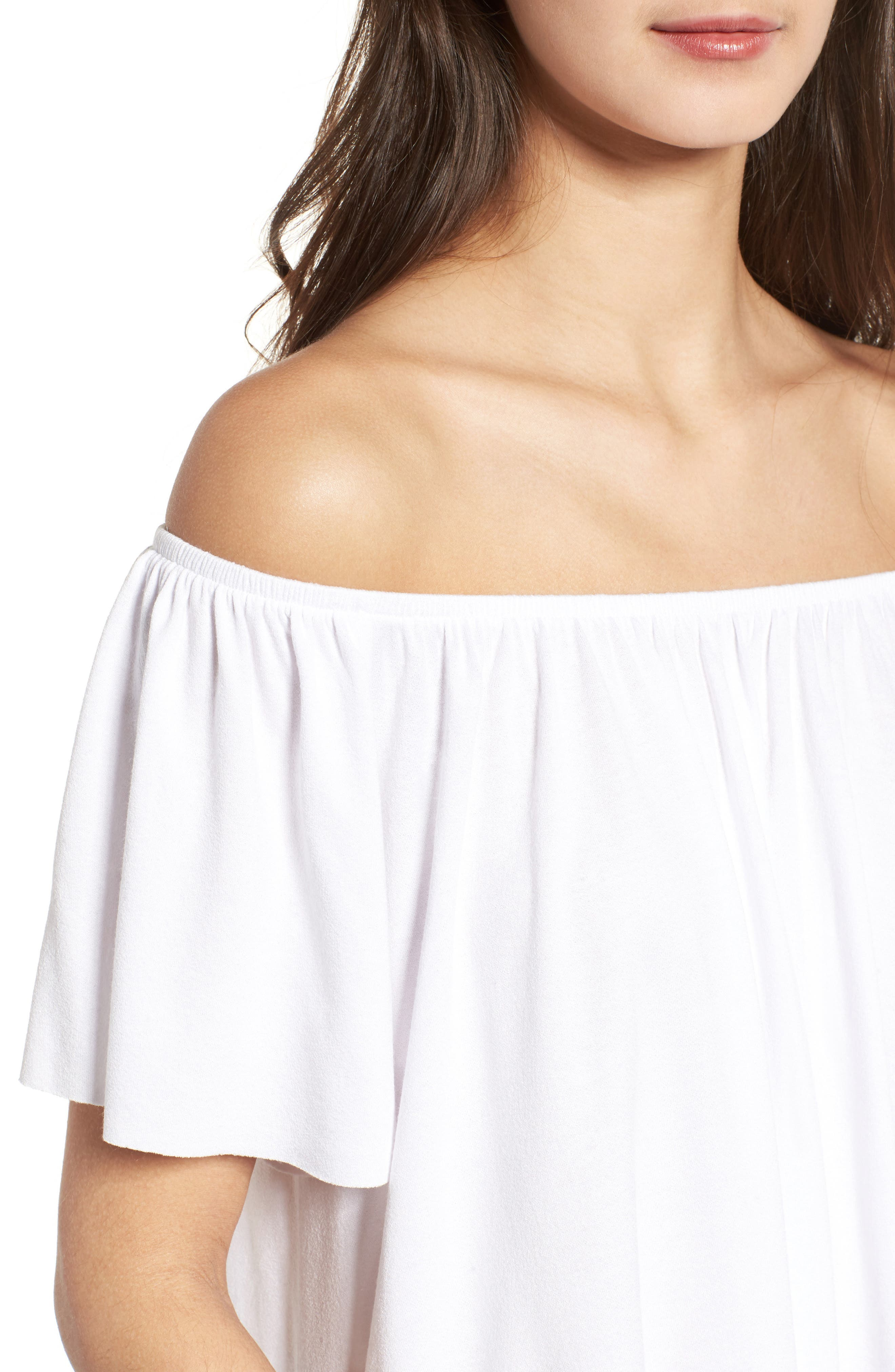 Off the Shoulder Top,                             Alternate thumbnail 27, color,