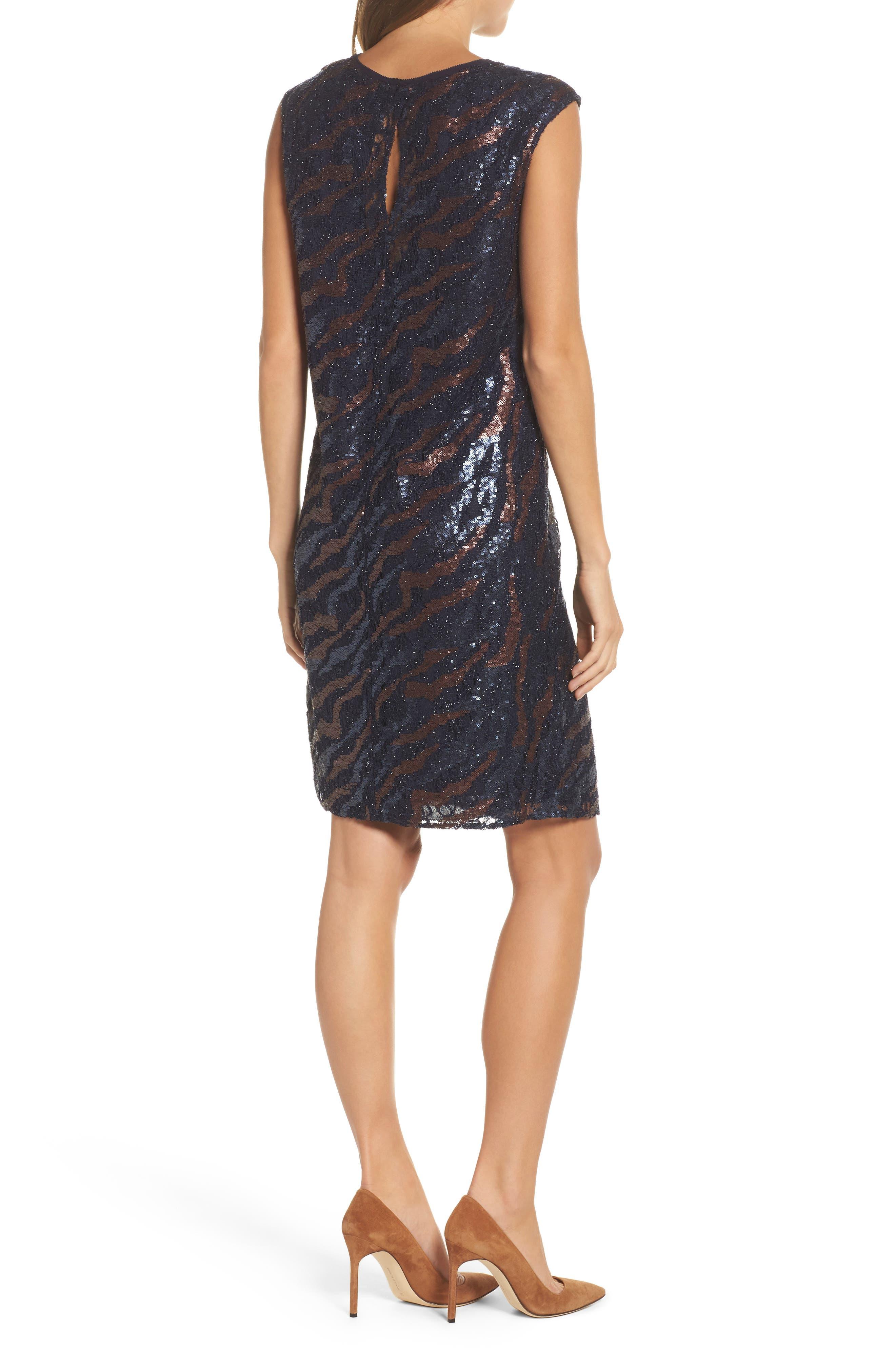 NIC + Zoe Sequin Lace Shift Dress,                             Alternate thumbnail 2, color,                             229