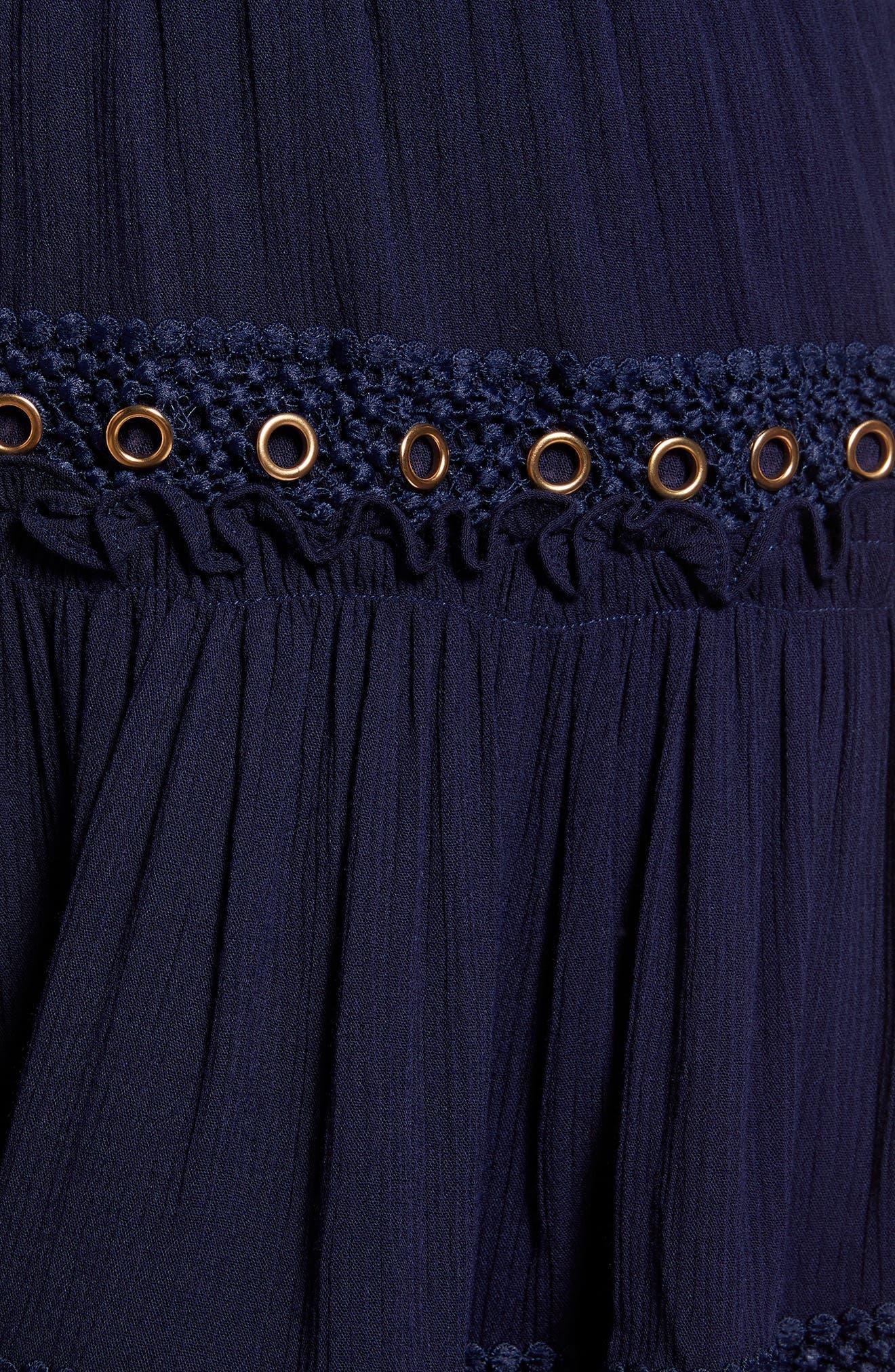 Marcella Fringe Trim Skirt,                             Alternate thumbnail 5, color,                             432