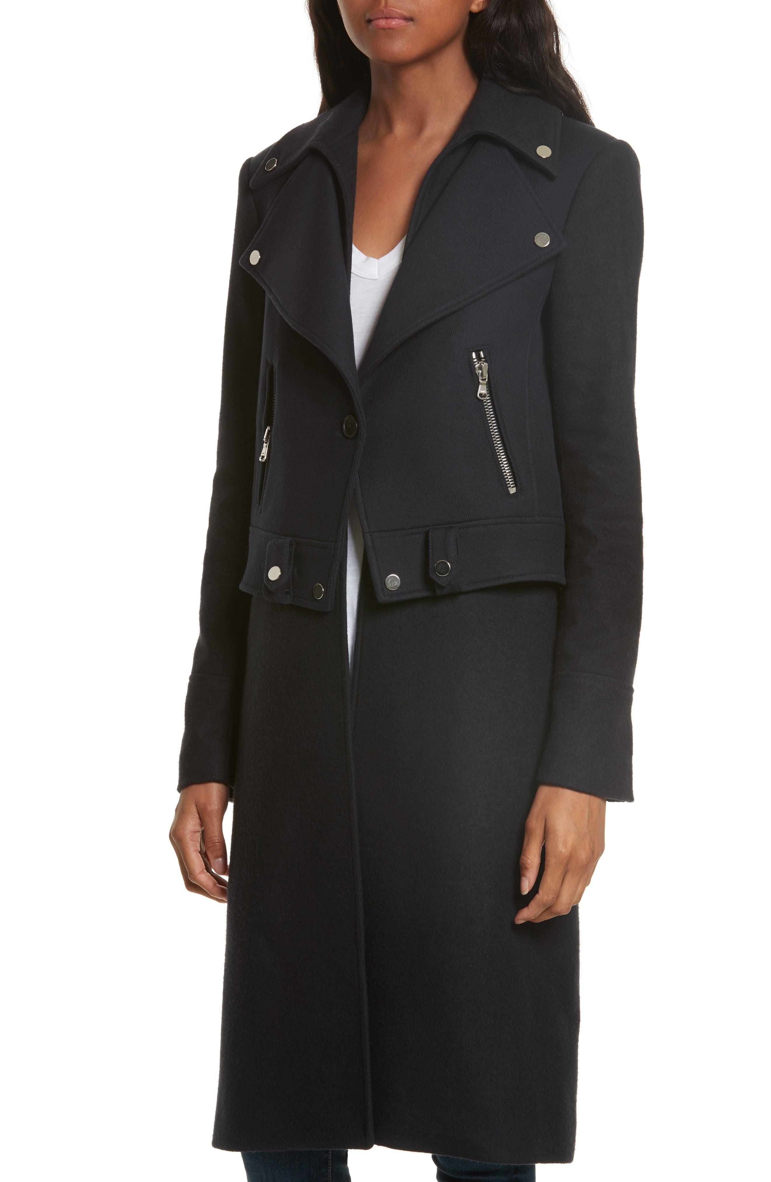 Alcott Wool & Cashmere Blend Vest Coat,                             Alternate thumbnail 4, color,                             414