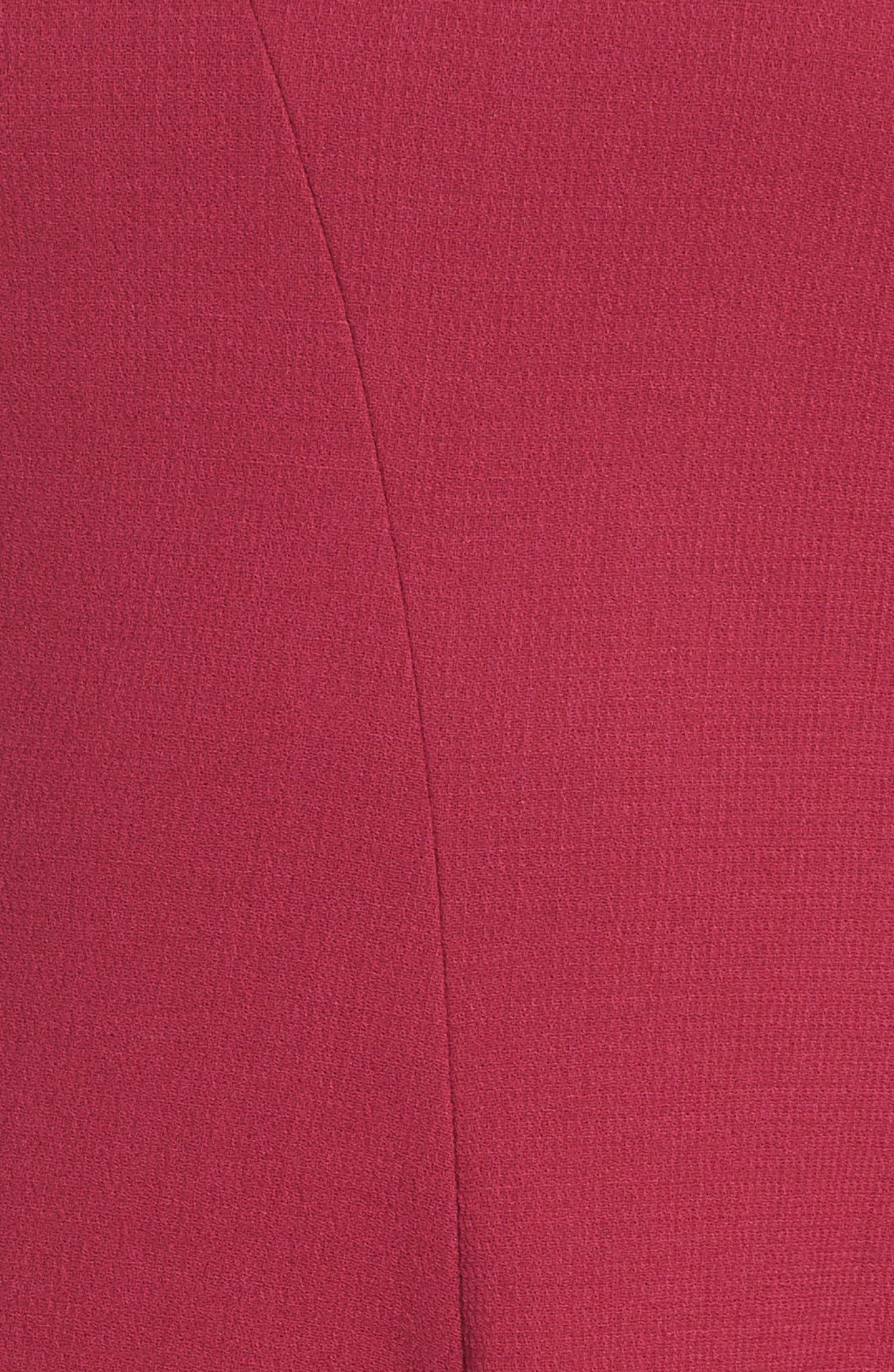 Aveena Wool Interlock Dress,                             Alternate thumbnail 5, color,                             651