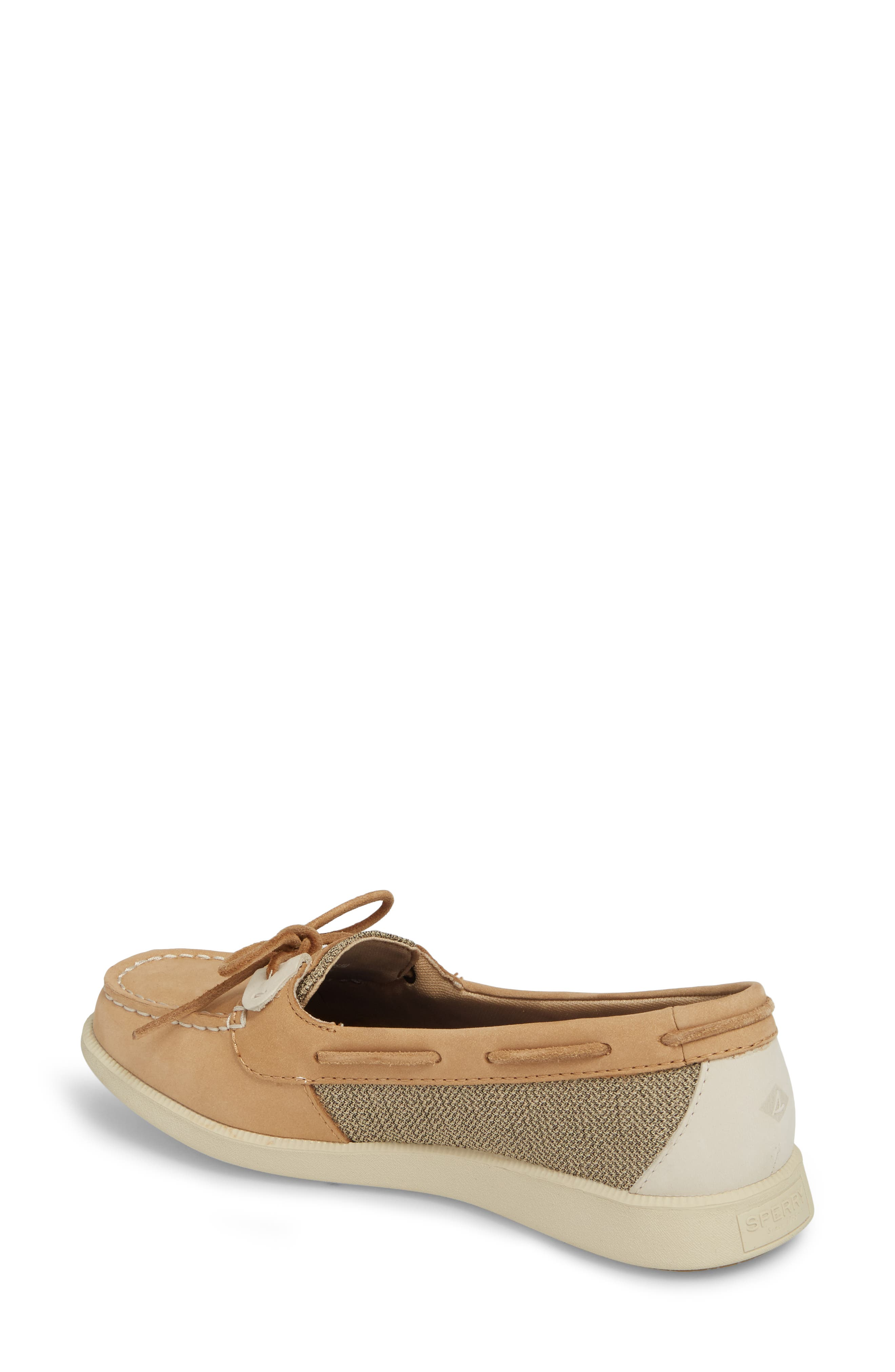 Oasis Boat Shoe,                             Alternate thumbnail 2, color,                             LINEN OAT LEATHER
