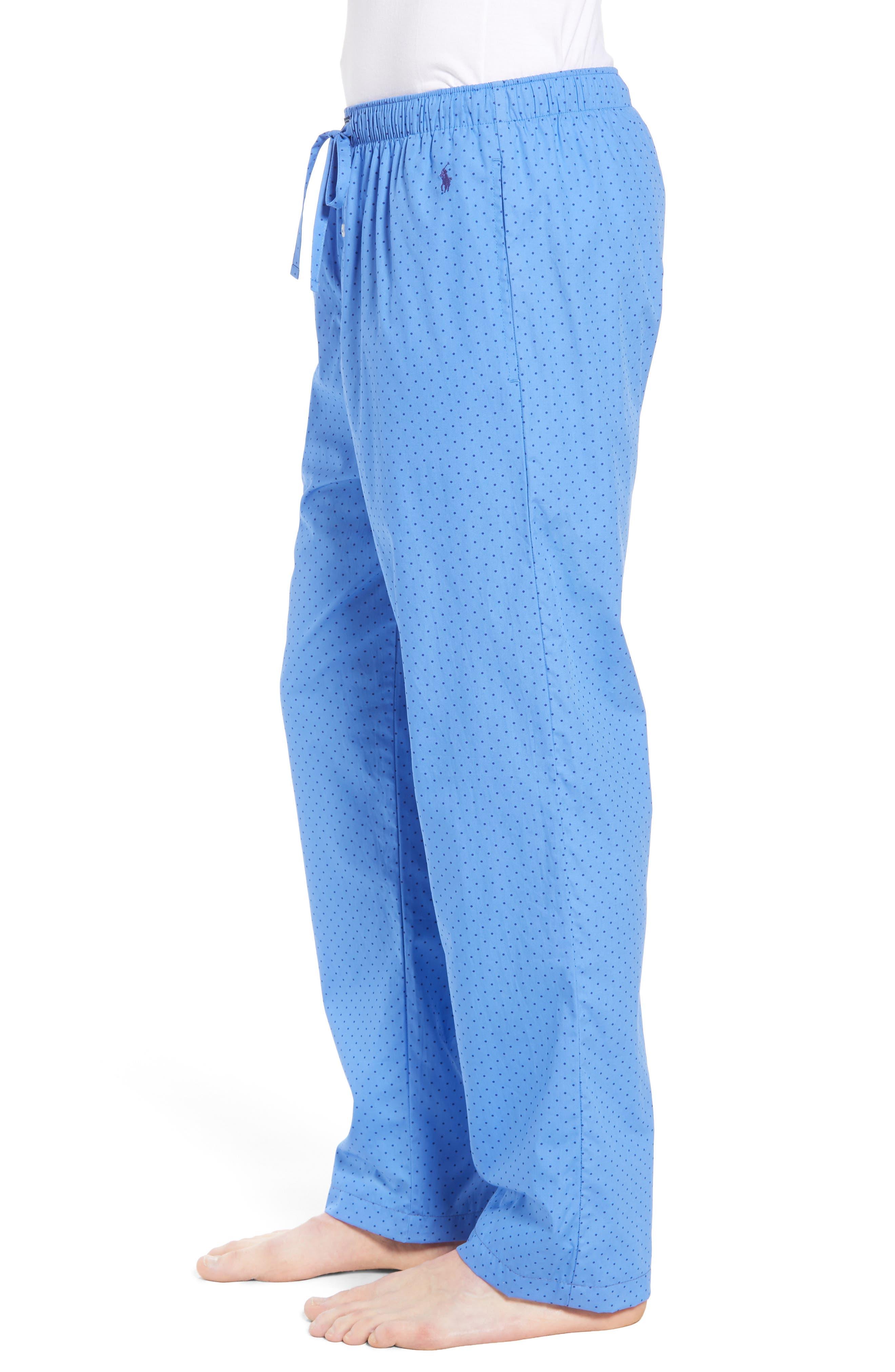 Dot Cotton Pajama Pants,                             Alternate thumbnail 3, color,                             451