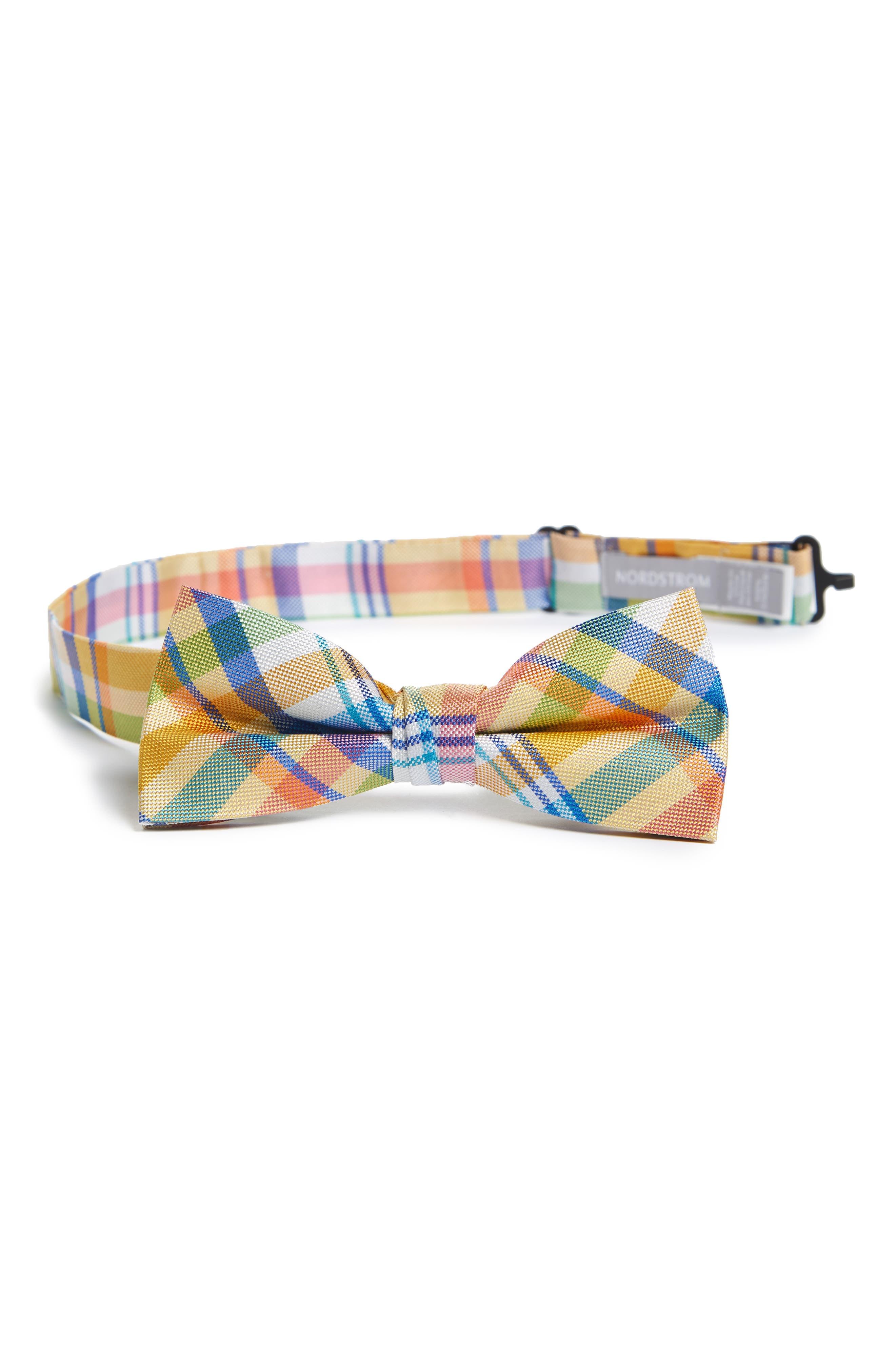 Plaid Silk Bow Tie,                             Main thumbnail 5, color,