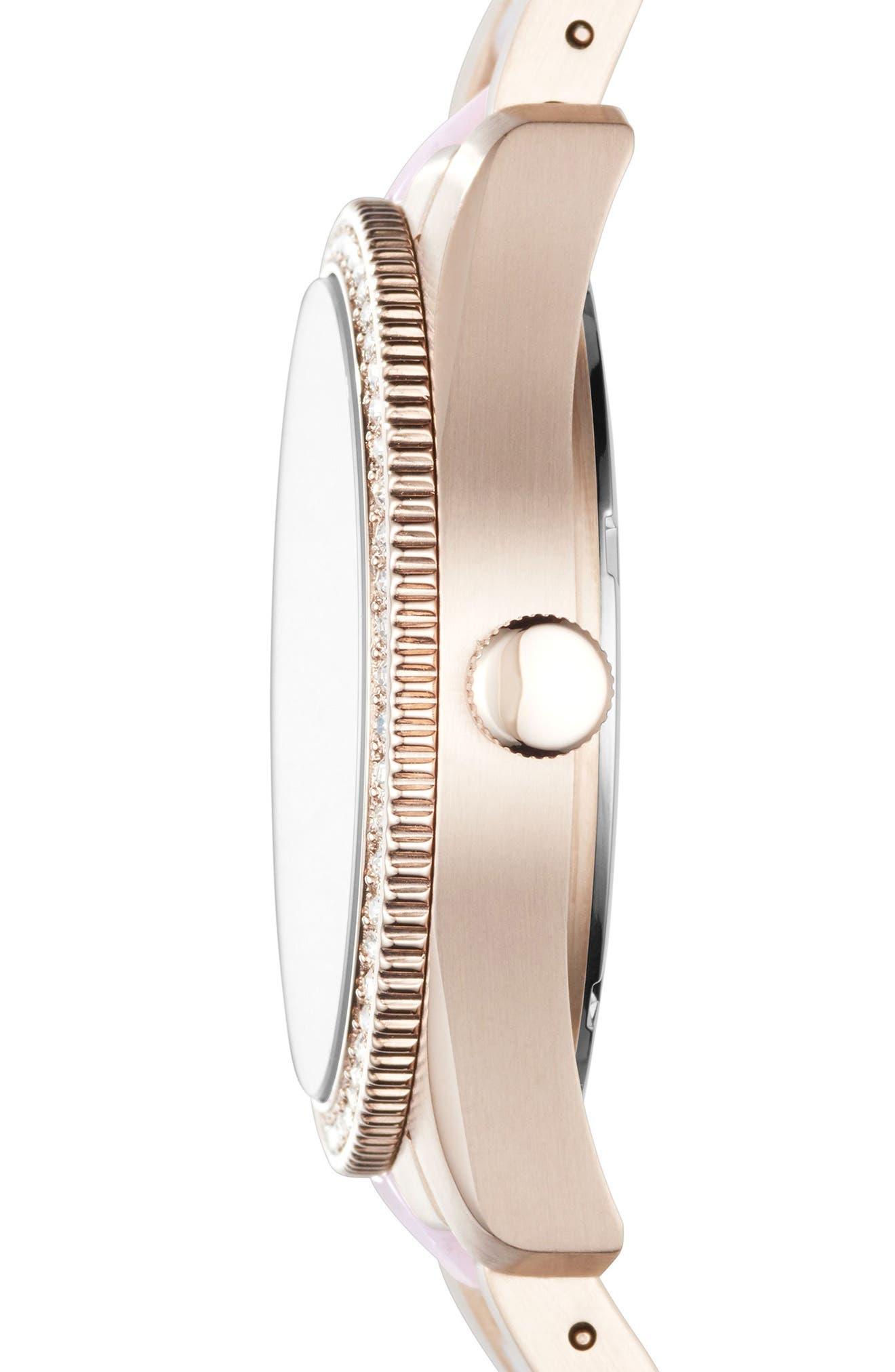 Scarlette Crystal Multifunction Bracelet Watch, 38mm,                             Alternate thumbnail 2, color,                             655