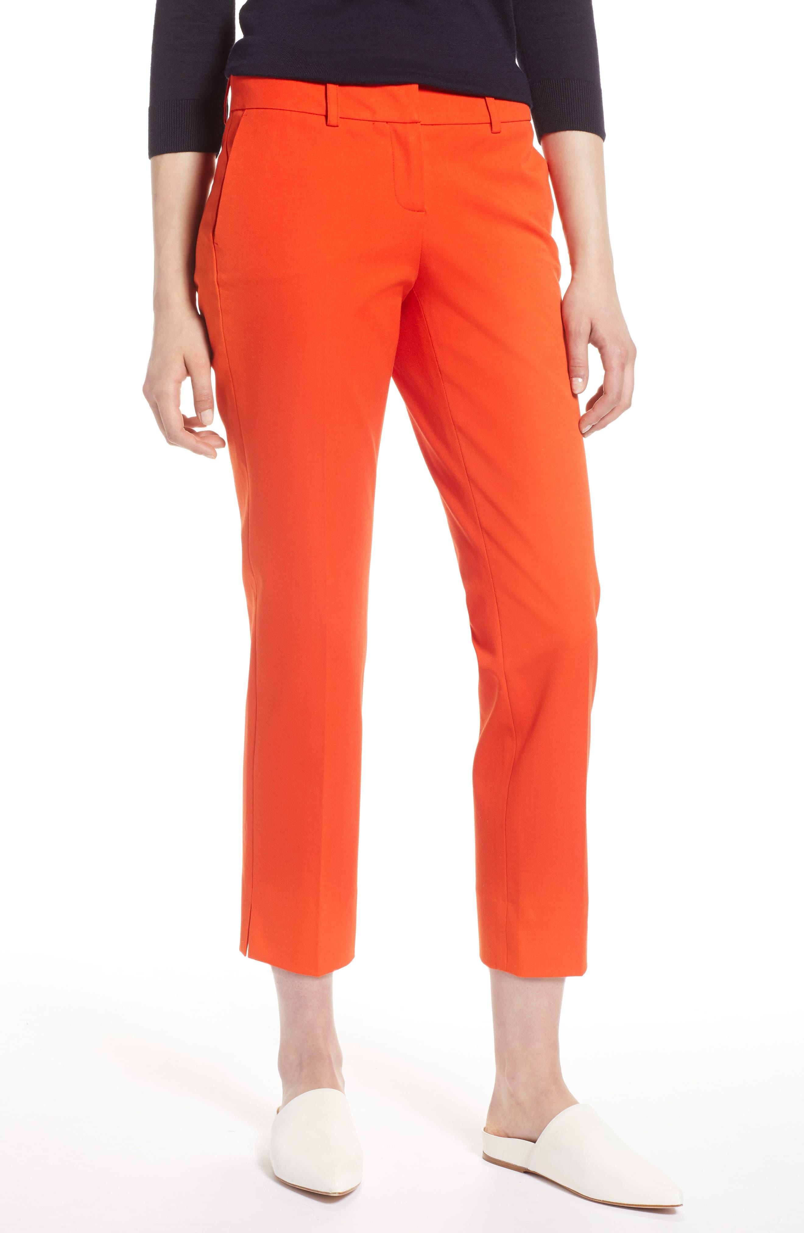 Crop Stretch Cotton Pants,                             Main thumbnail 3, color,