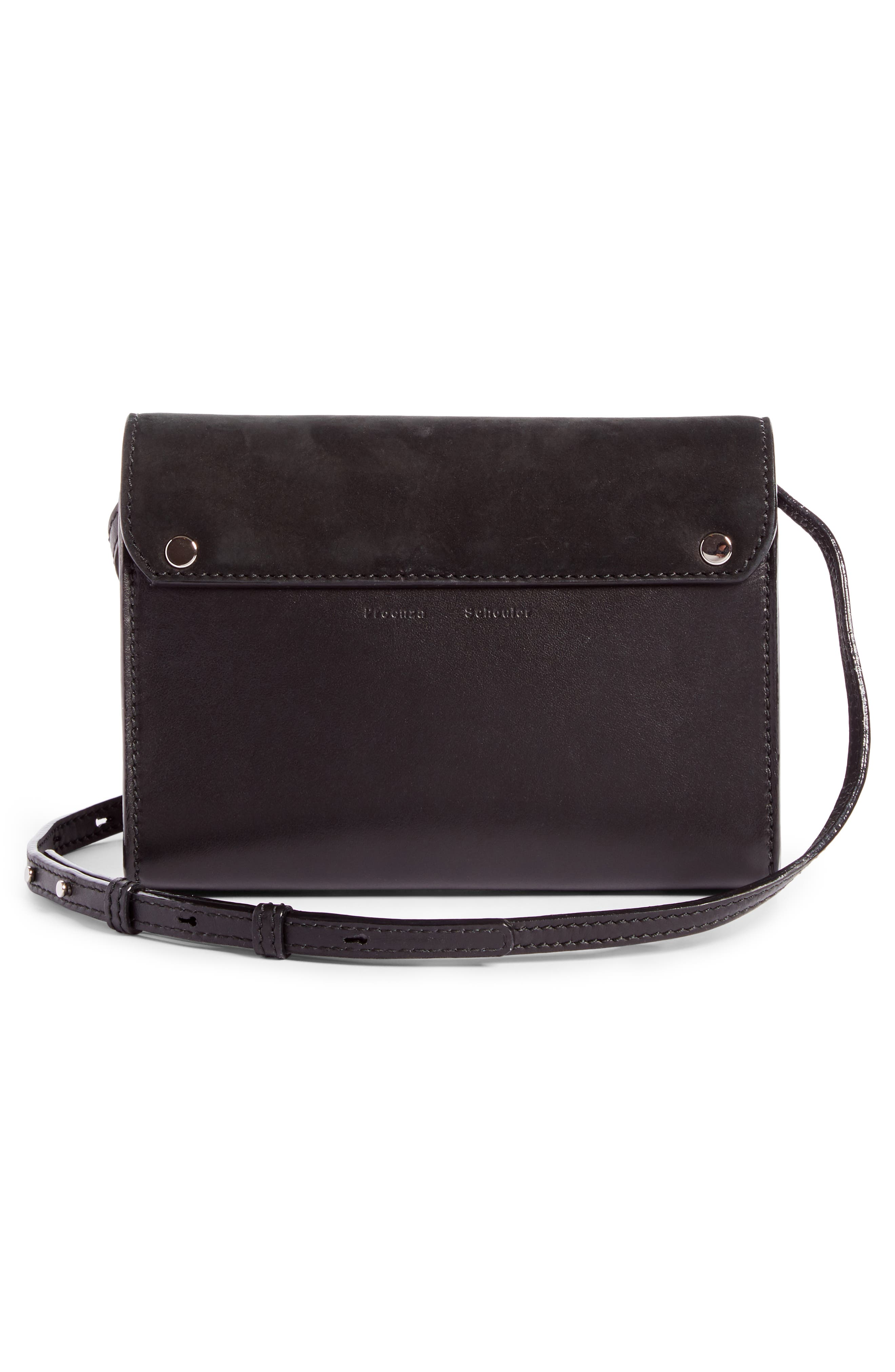 PS11 Calfskin Leather Crossbody Wallet,                             Alternate thumbnail 3, color,                             001