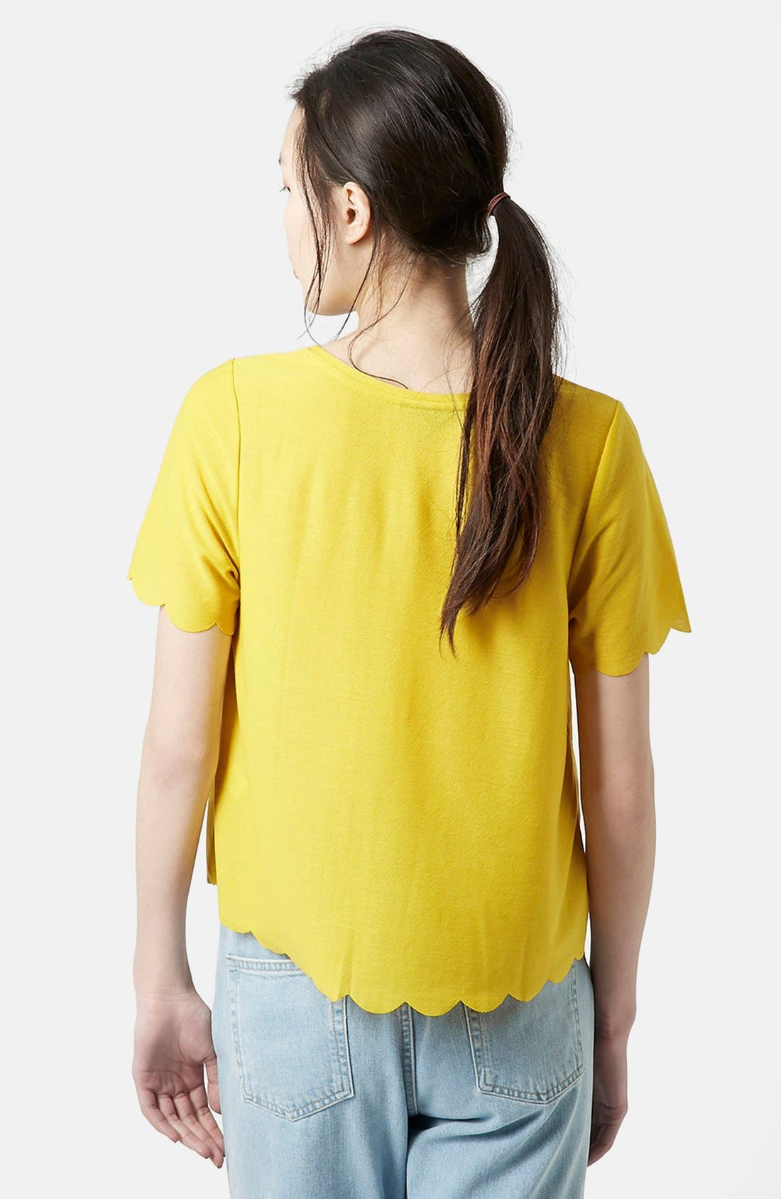 Scallop Frill Tee,                             Alternate thumbnail 40, color,