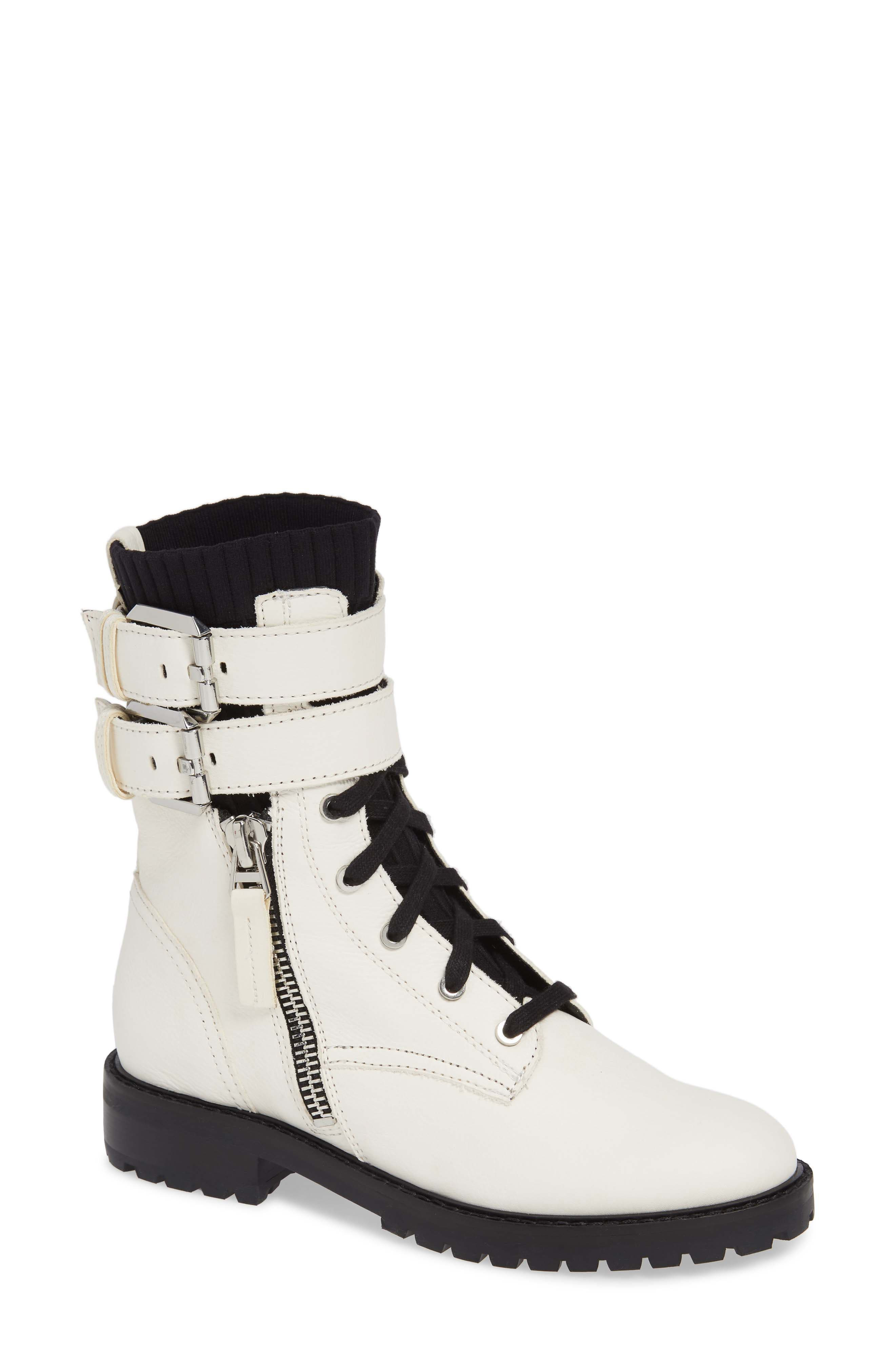Dolce Vita Wylie Combat Boot- Ivory