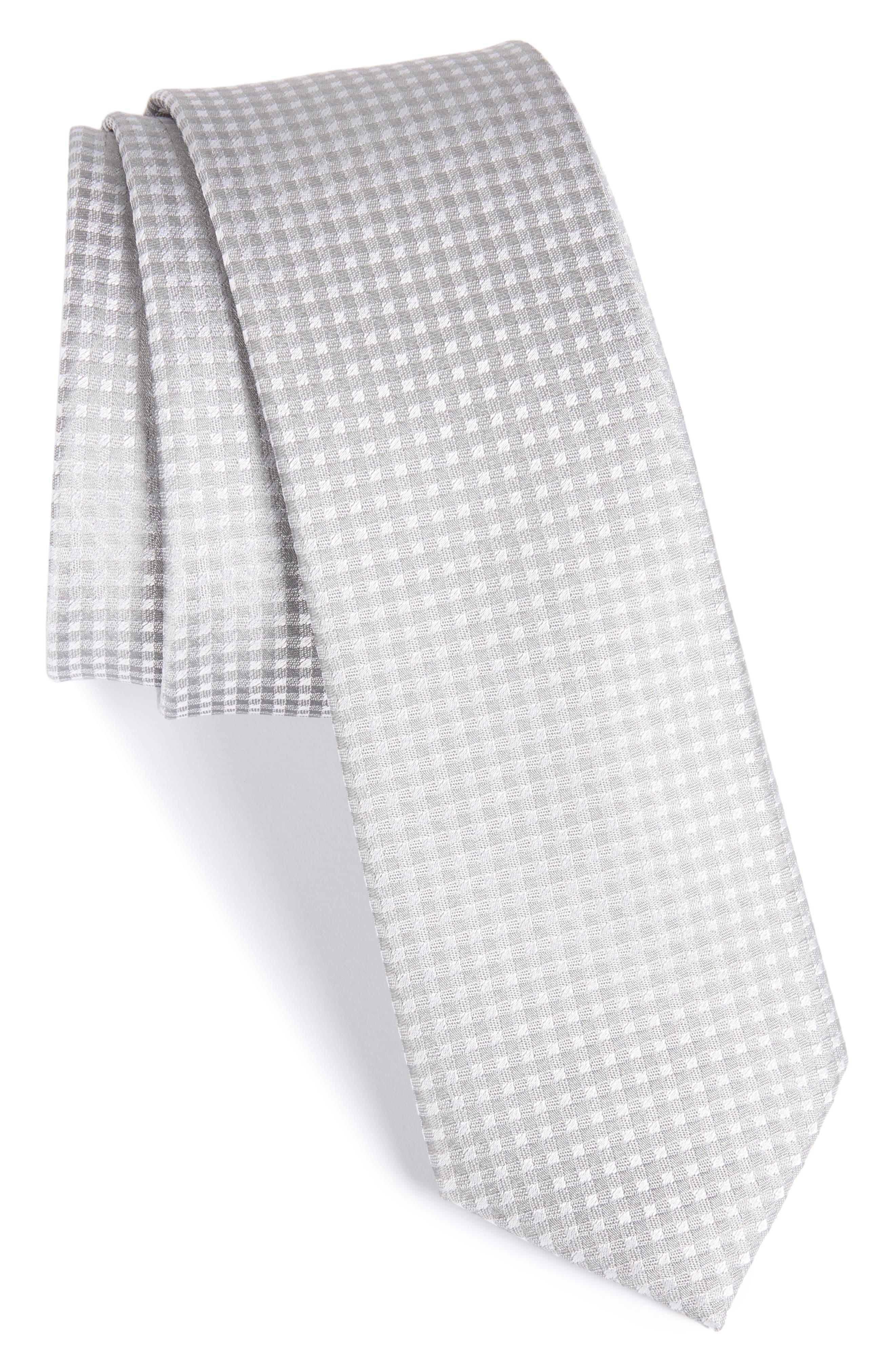 Check Silk Tie,                         Main,                         color, 039
