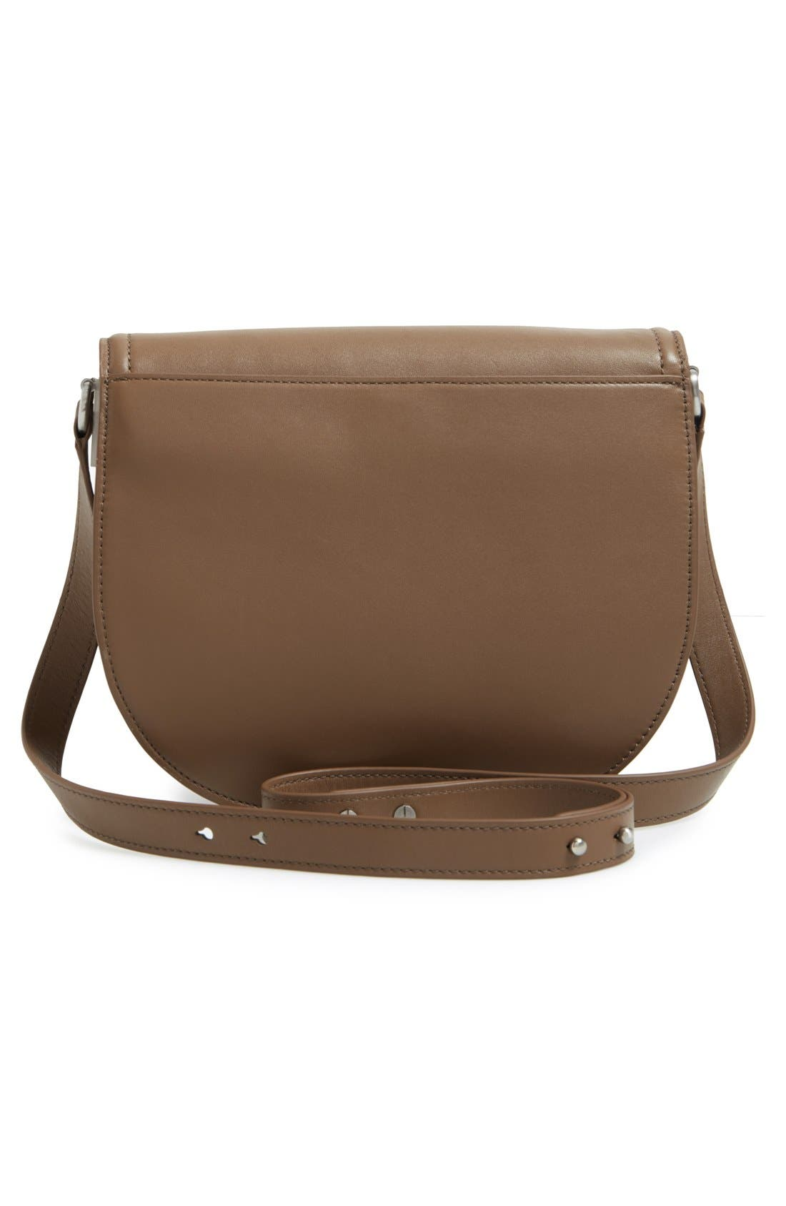 'Large' Leather Saddle Bag,                             Alternate thumbnail 4, color,                             300