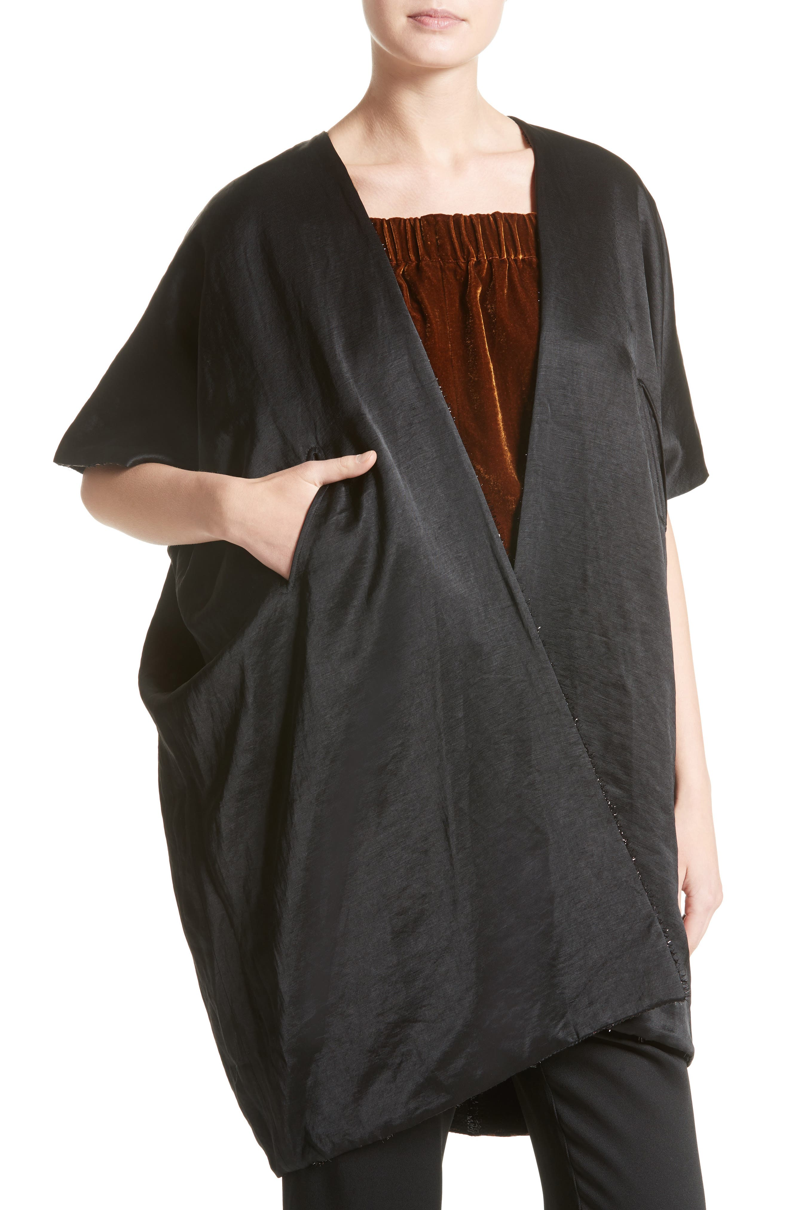 Gaban Reversible Jacquard Coat,                             Alternate thumbnail 4, color,                             200