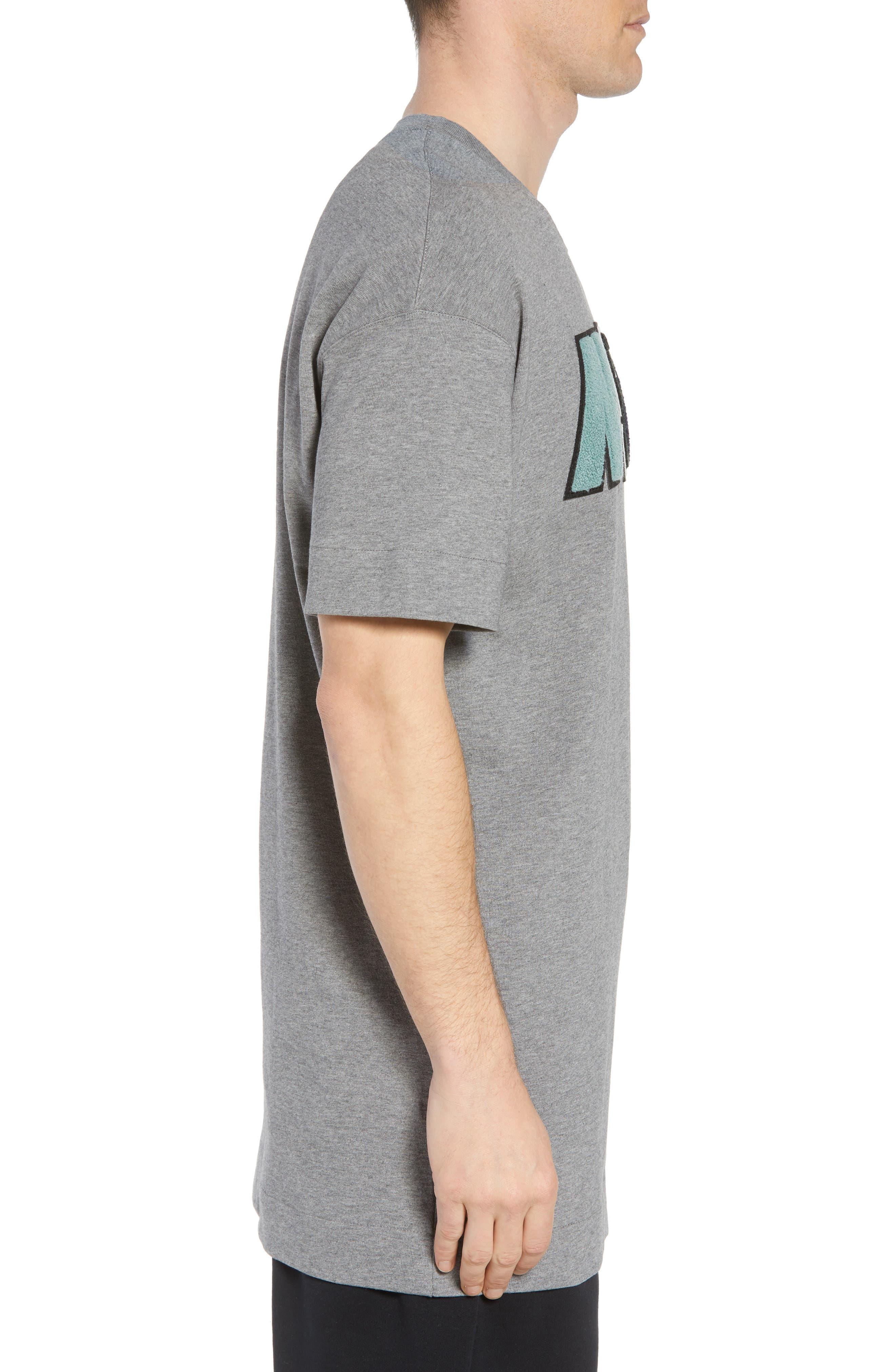Sportswear NSW Appliqué T-Shirt,                             Alternate thumbnail 3, color,                             CARBON HEATHER
