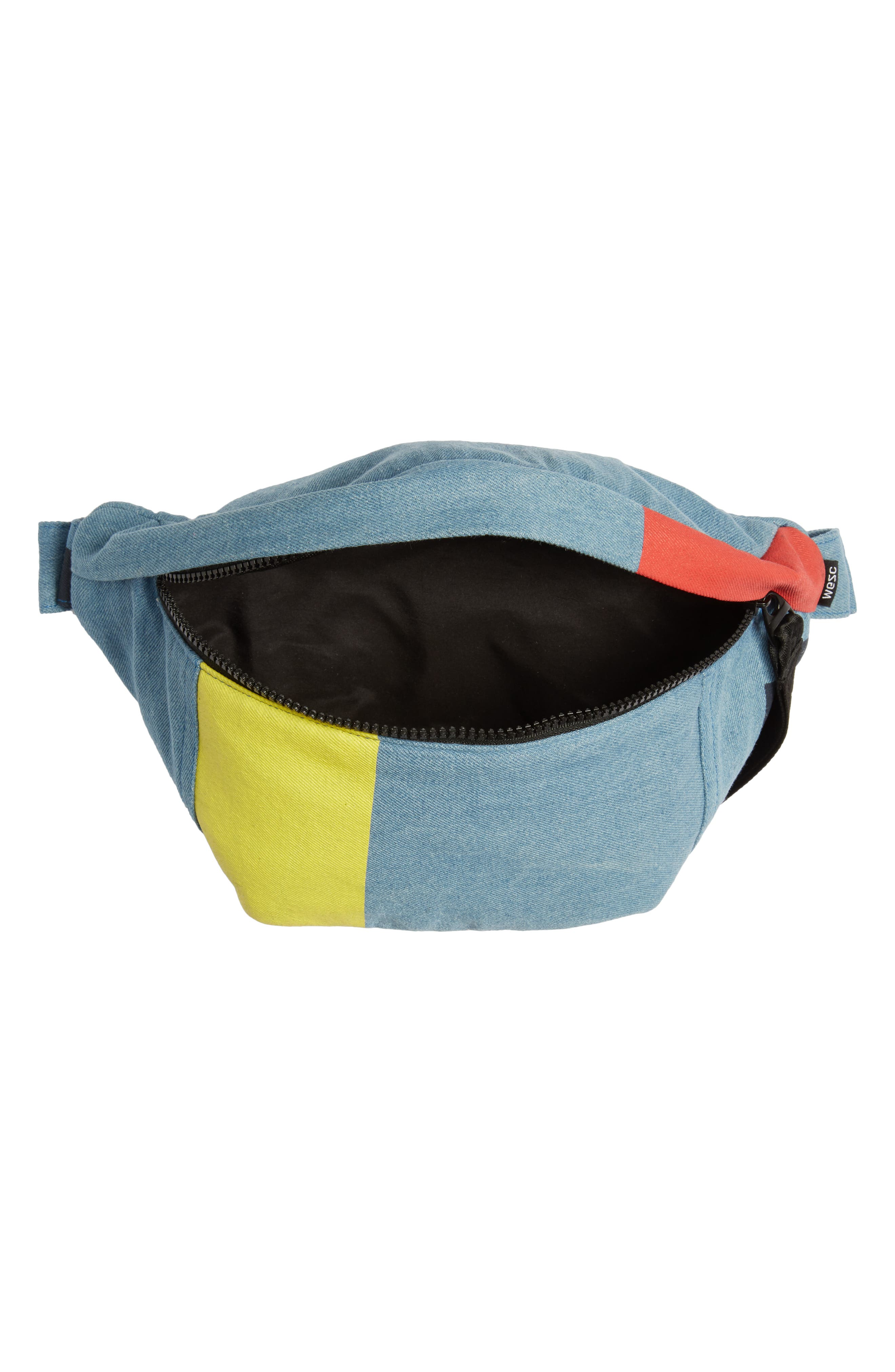 WESC,                             Usher Colorblock Denim Belt Bag,                             Alternate thumbnail 5, color,                             CERULEAN BLUE