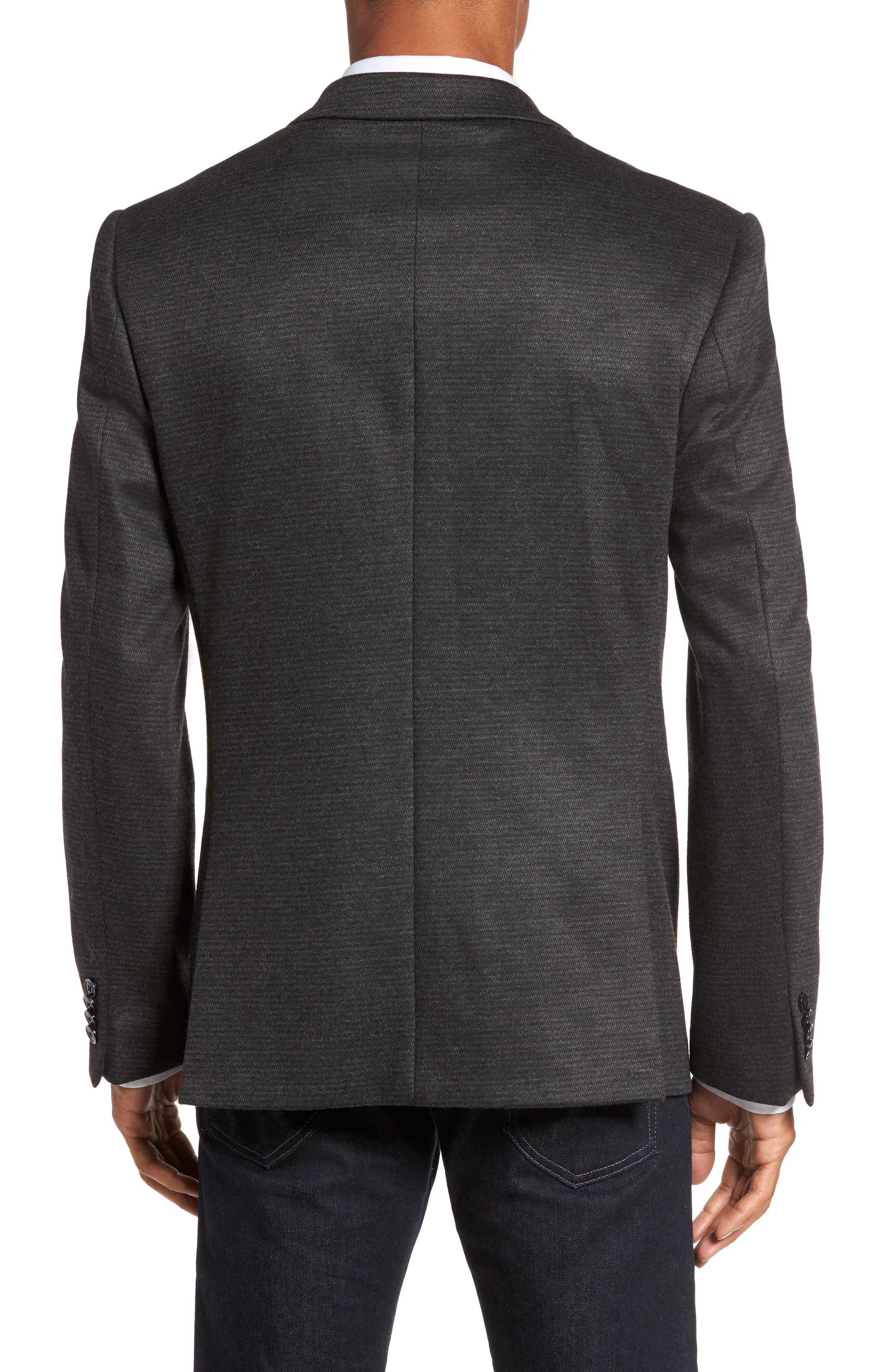 Trim Fit Solid Sport Coat,                             Alternate thumbnail 2, color,