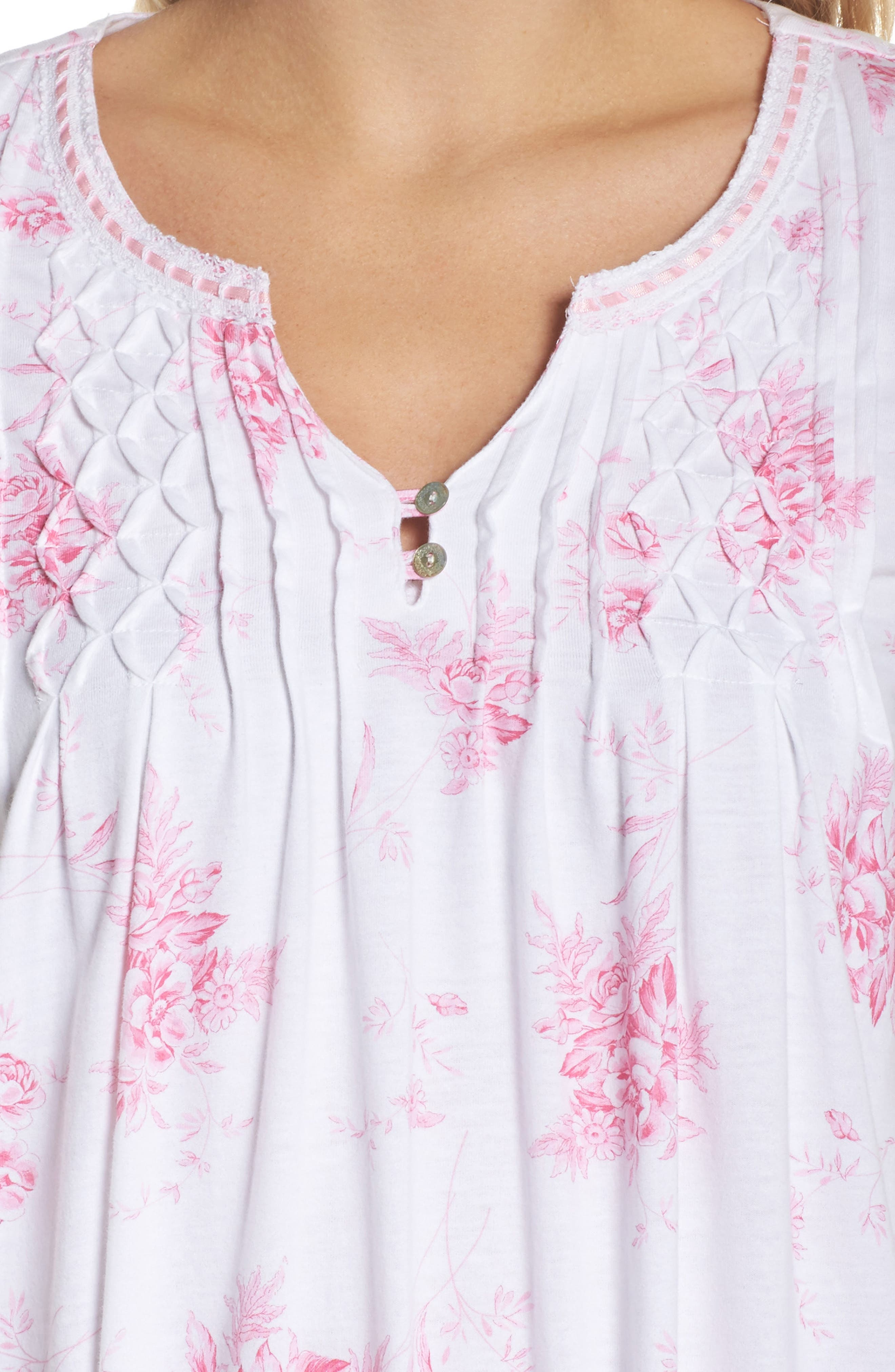 Cotton Jersey Long Nightgown,                             Alternate thumbnail 4, color,                             102