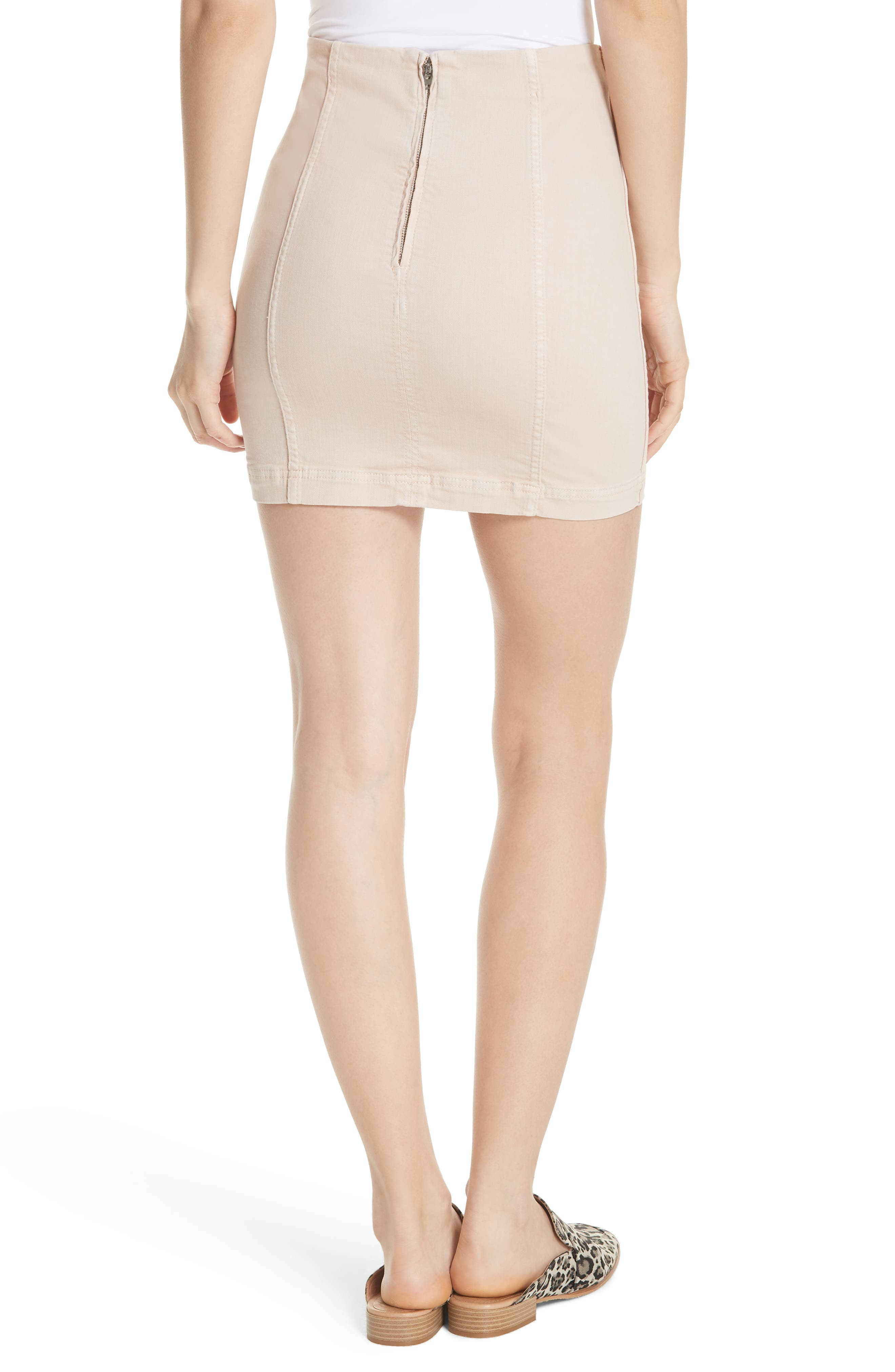 We the Free by Free People Modern Miniskirt,                             Alternate thumbnail 2, color,                             STONE