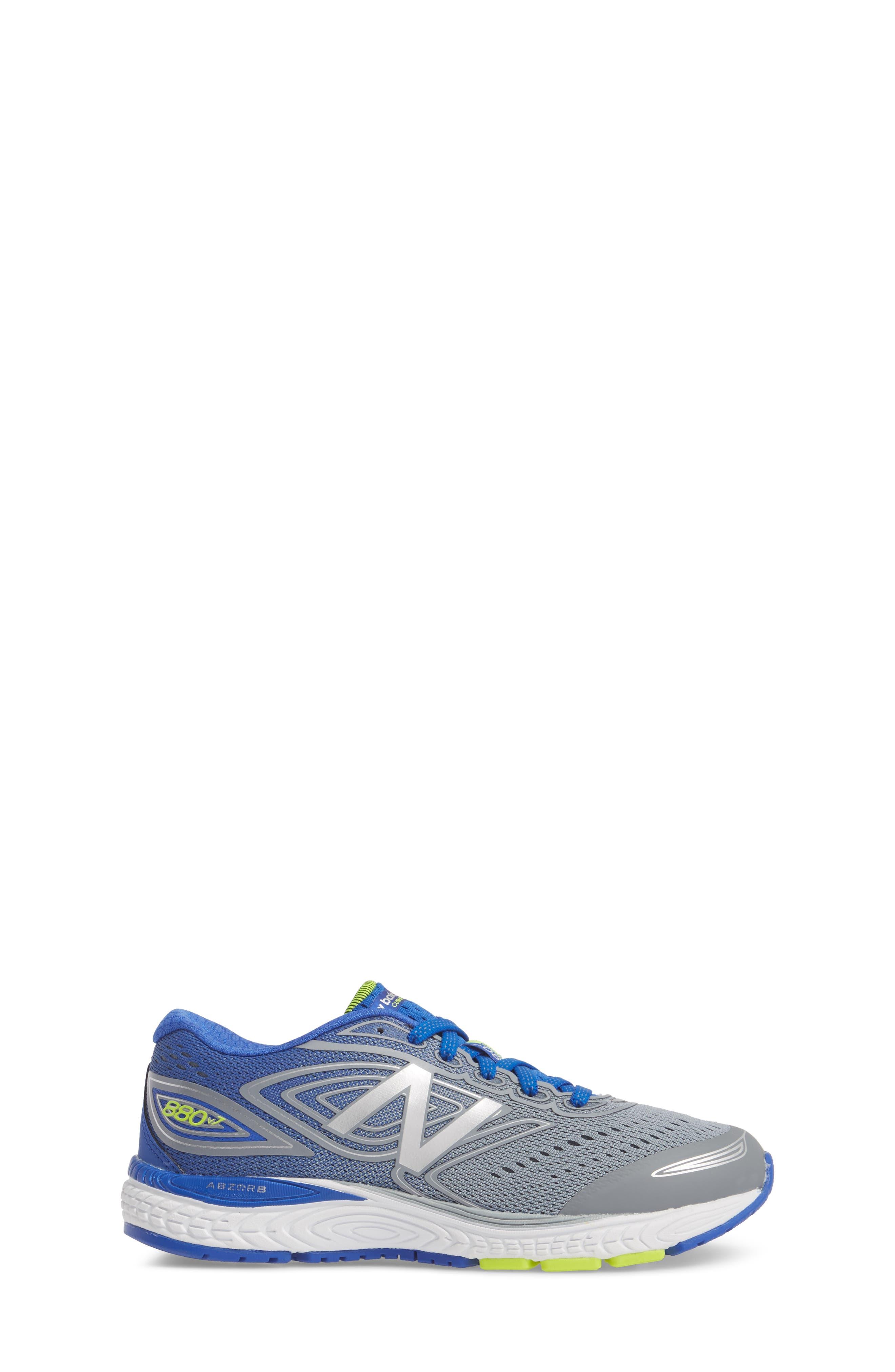 880v7 Sneaker,                             Alternate thumbnail 3, color,                             STEEL