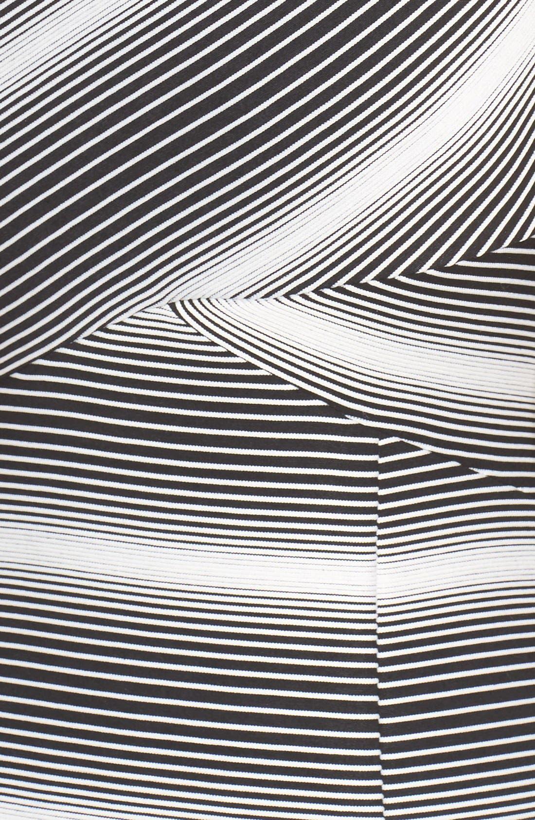 Stripe Jersey Sheath Dress,                             Alternate thumbnail 5, color,                             109