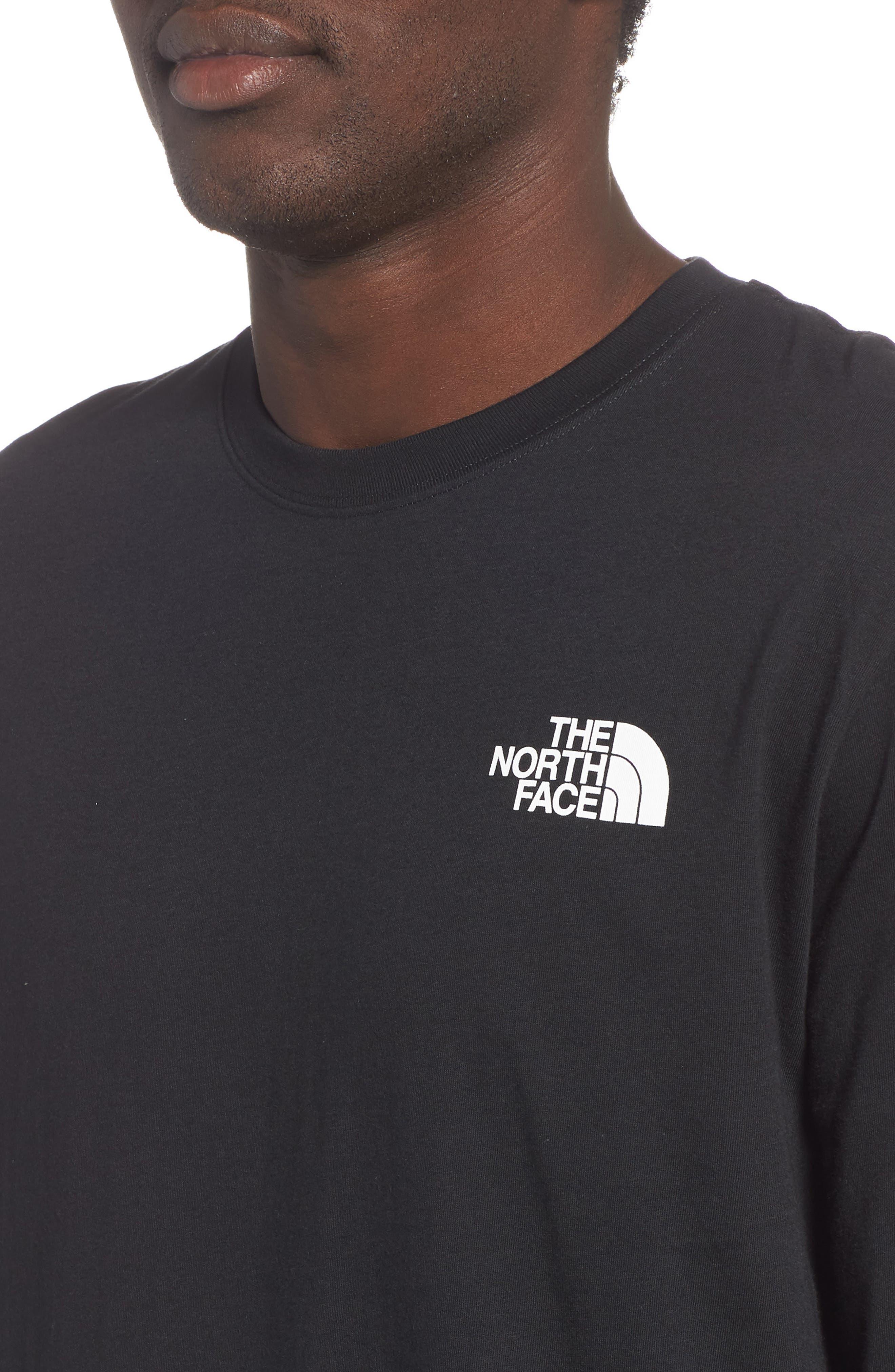 Red Box Long Sleeve T-Shirt,                             Alternate thumbnail 4, color,                             TNF BLACK/ TNF WHITE