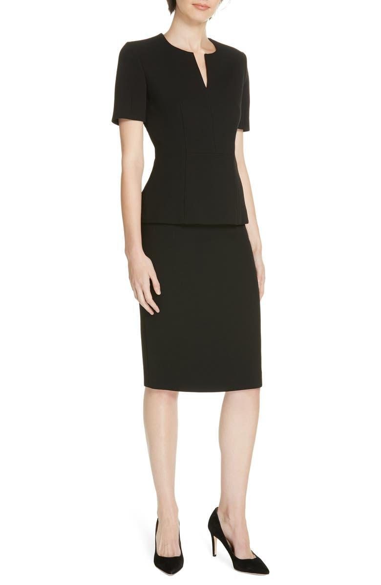 0503d3d360a Shop Boss Virera Ponte Pencil Skirt In Black