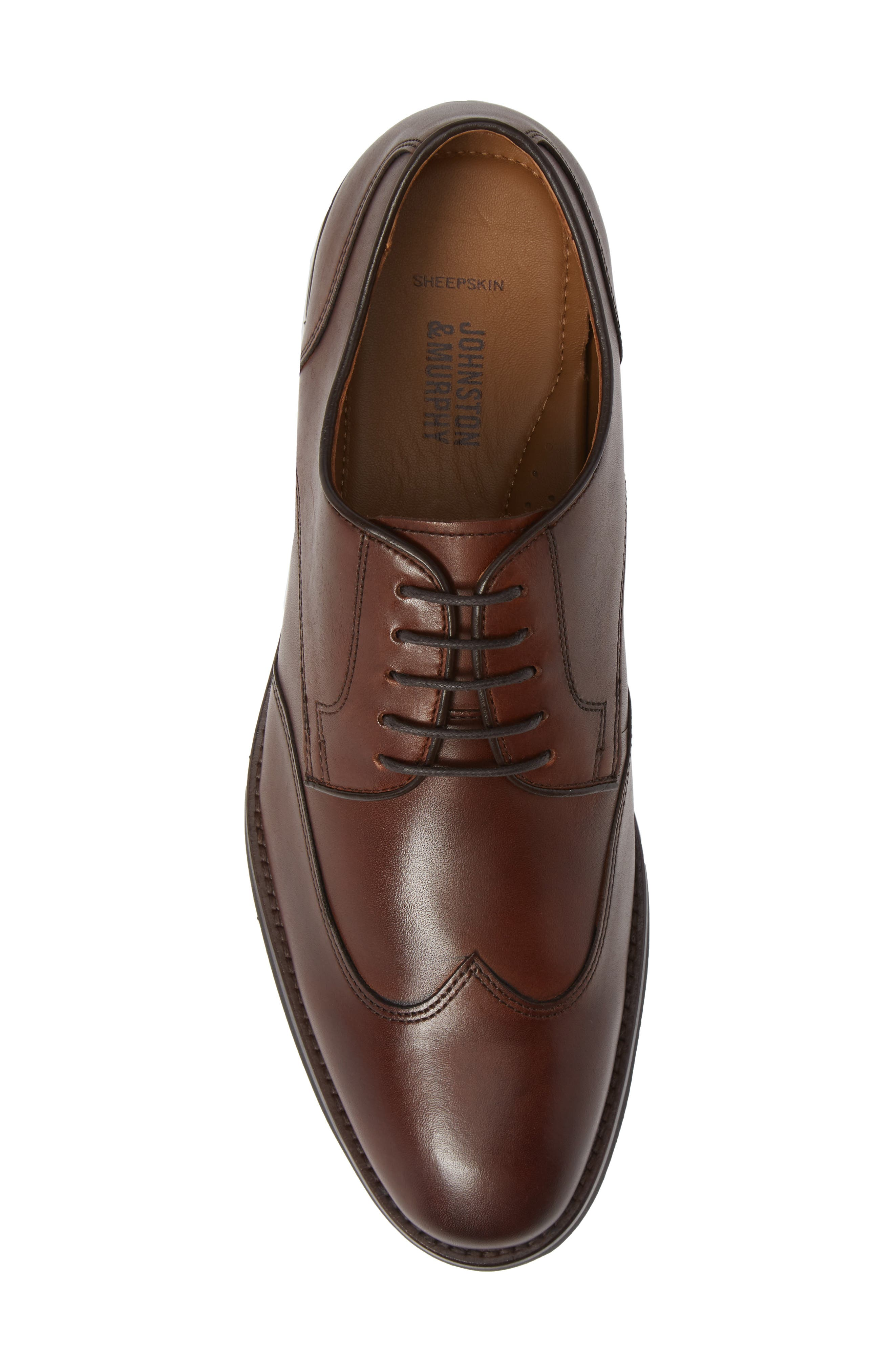 Carlson Wingtip,                             Alternate thumbnail 5, color,                             OAK LEATHER